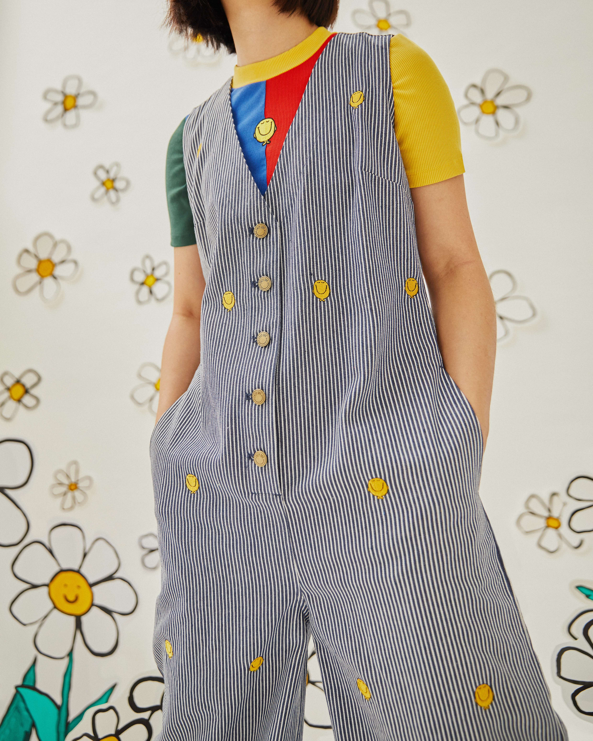 Wonderland Lazy Oaf x Mr. Men collaboration jumpsuit