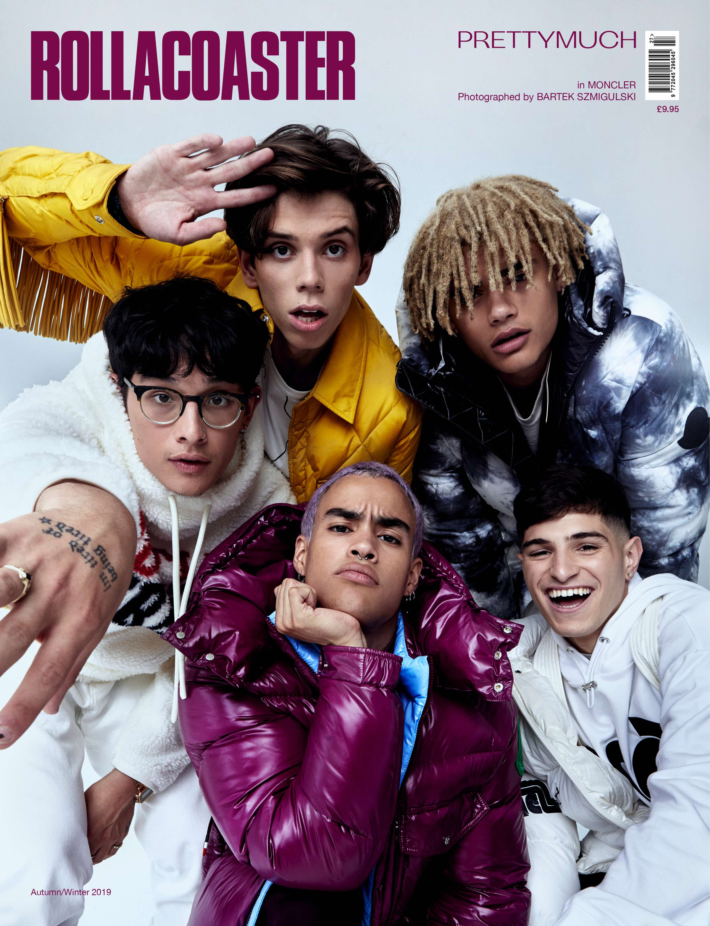 Prettymuch rollacoaster cover boy band aw19 moncler