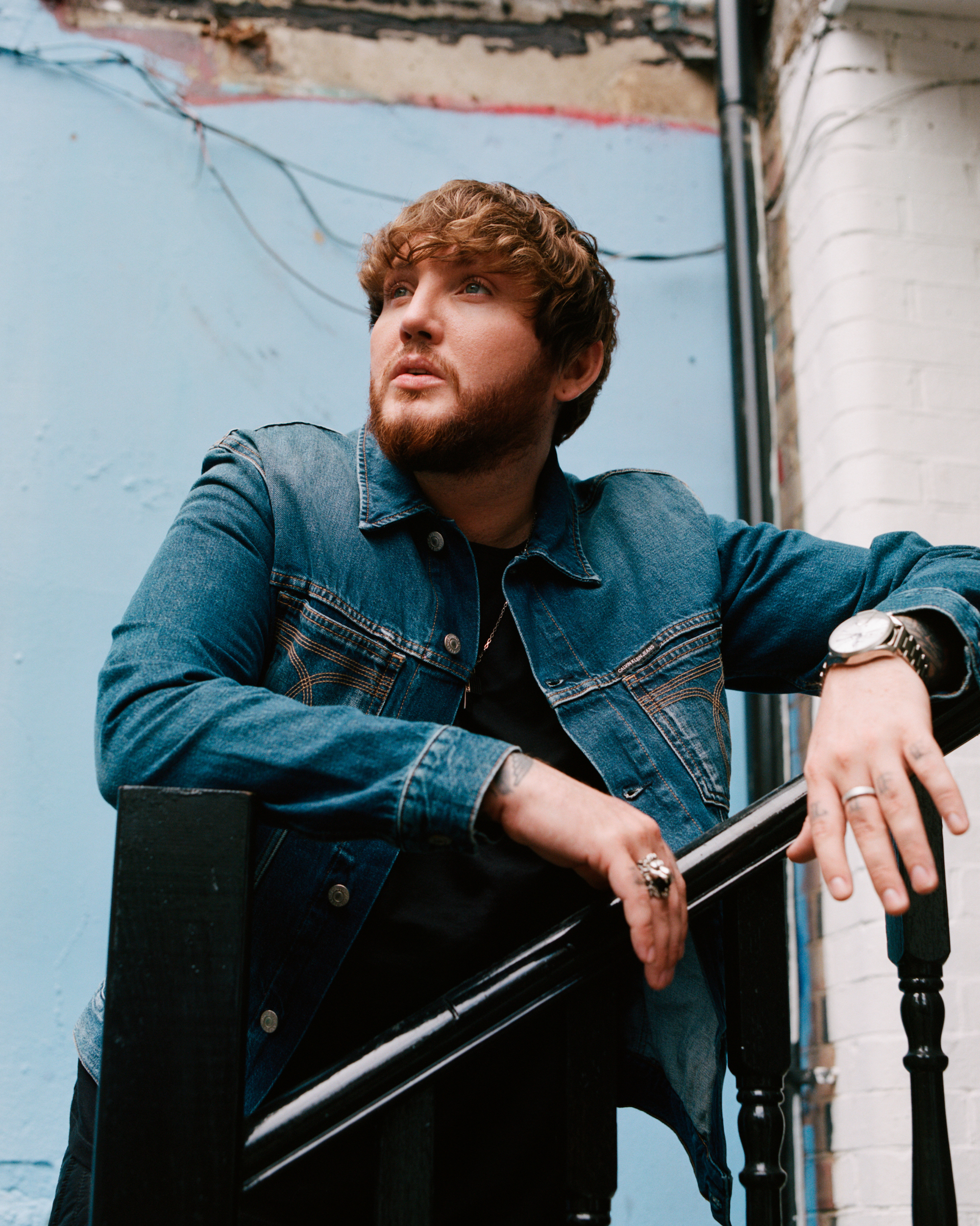 James Arthur denim jacket