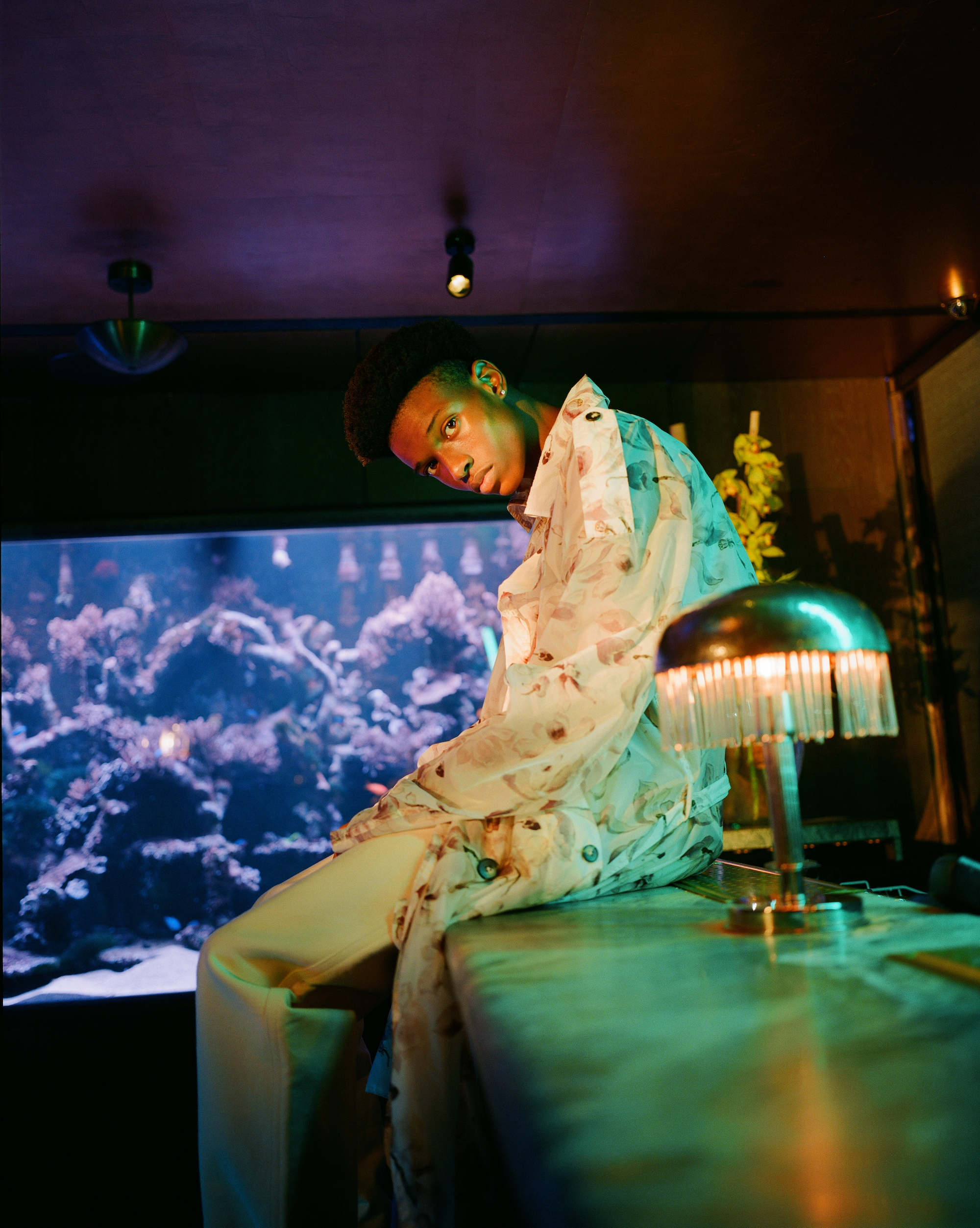 Wonderland fashion editorial Aquarius Boy