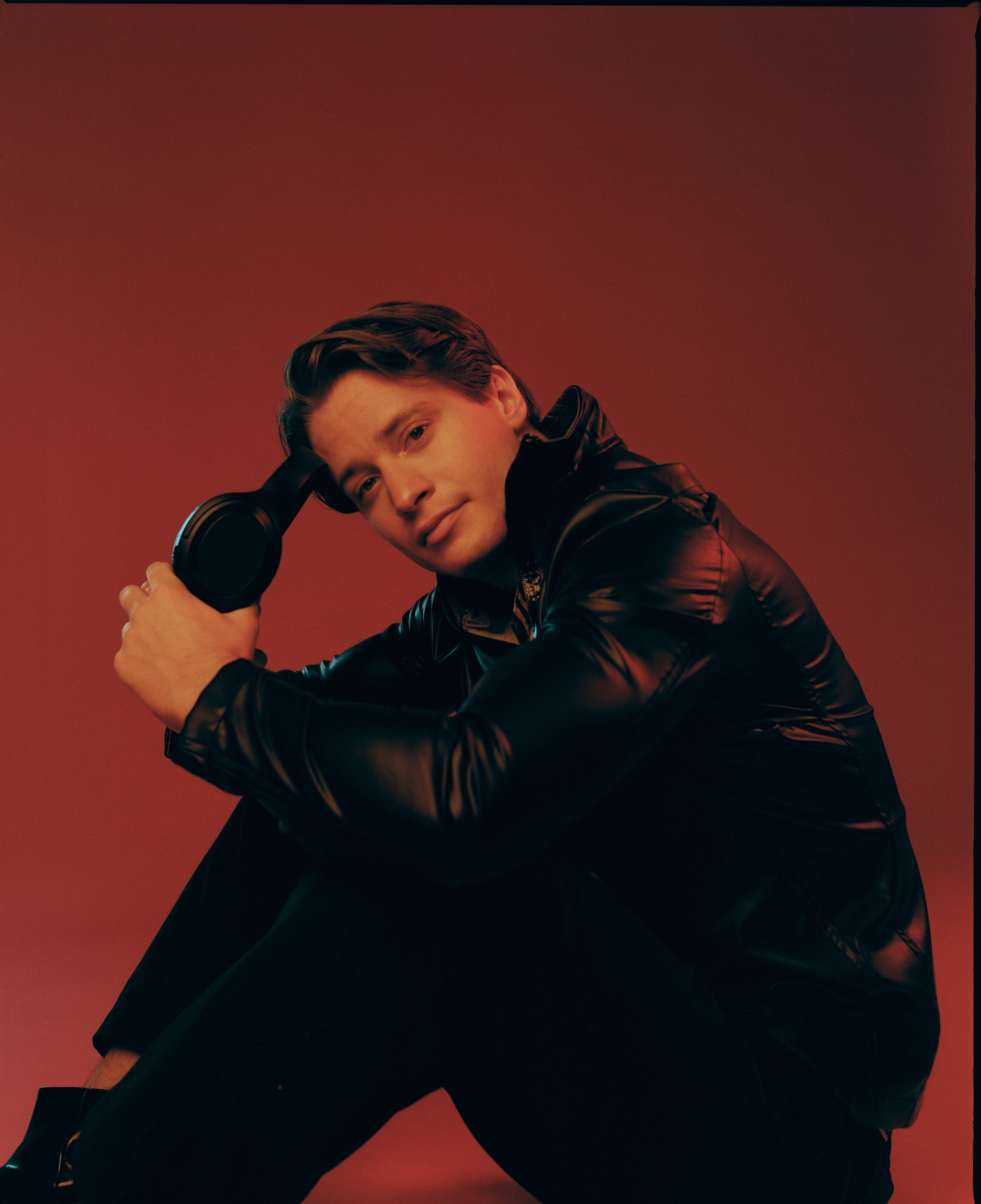 Kygo on the cover of Rollacoaster AW19 red shadows