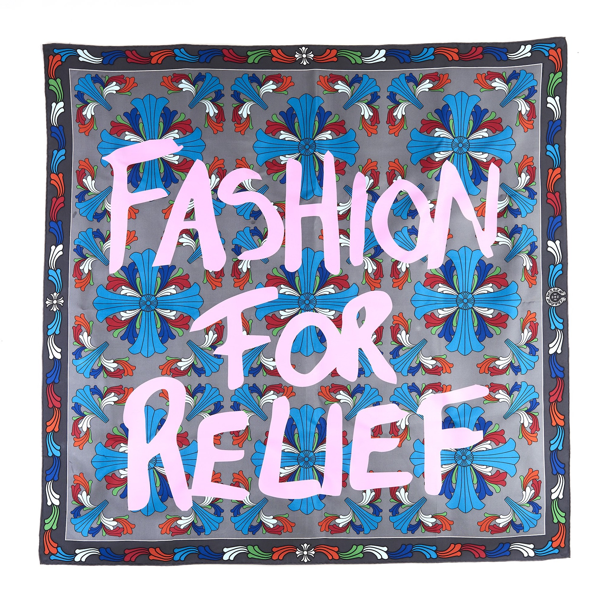 Chrome Hearts have teamed up with Naomi Campbell's Fashion For Relief pink scarf