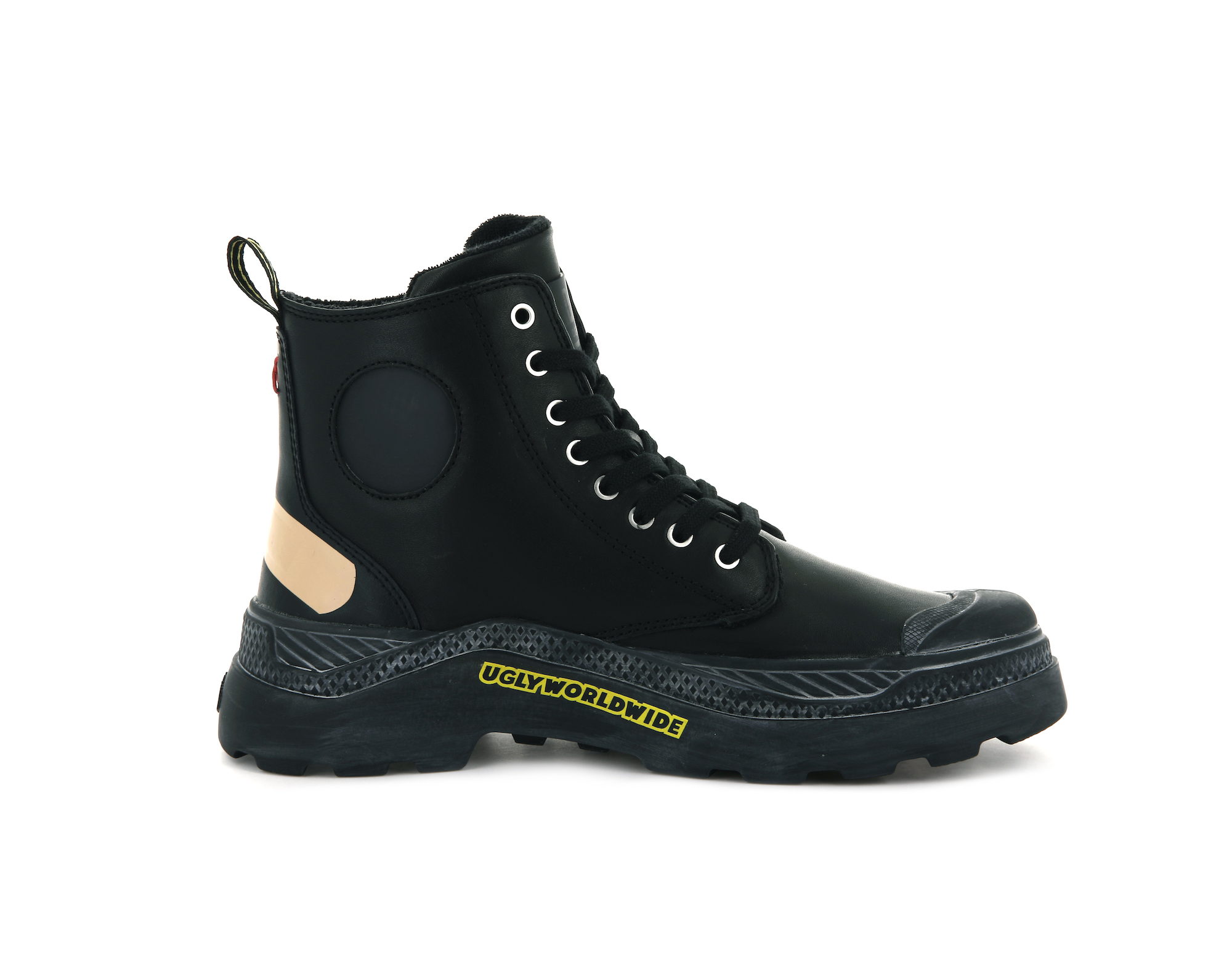 Palladium x Ugly Worldwide black boots