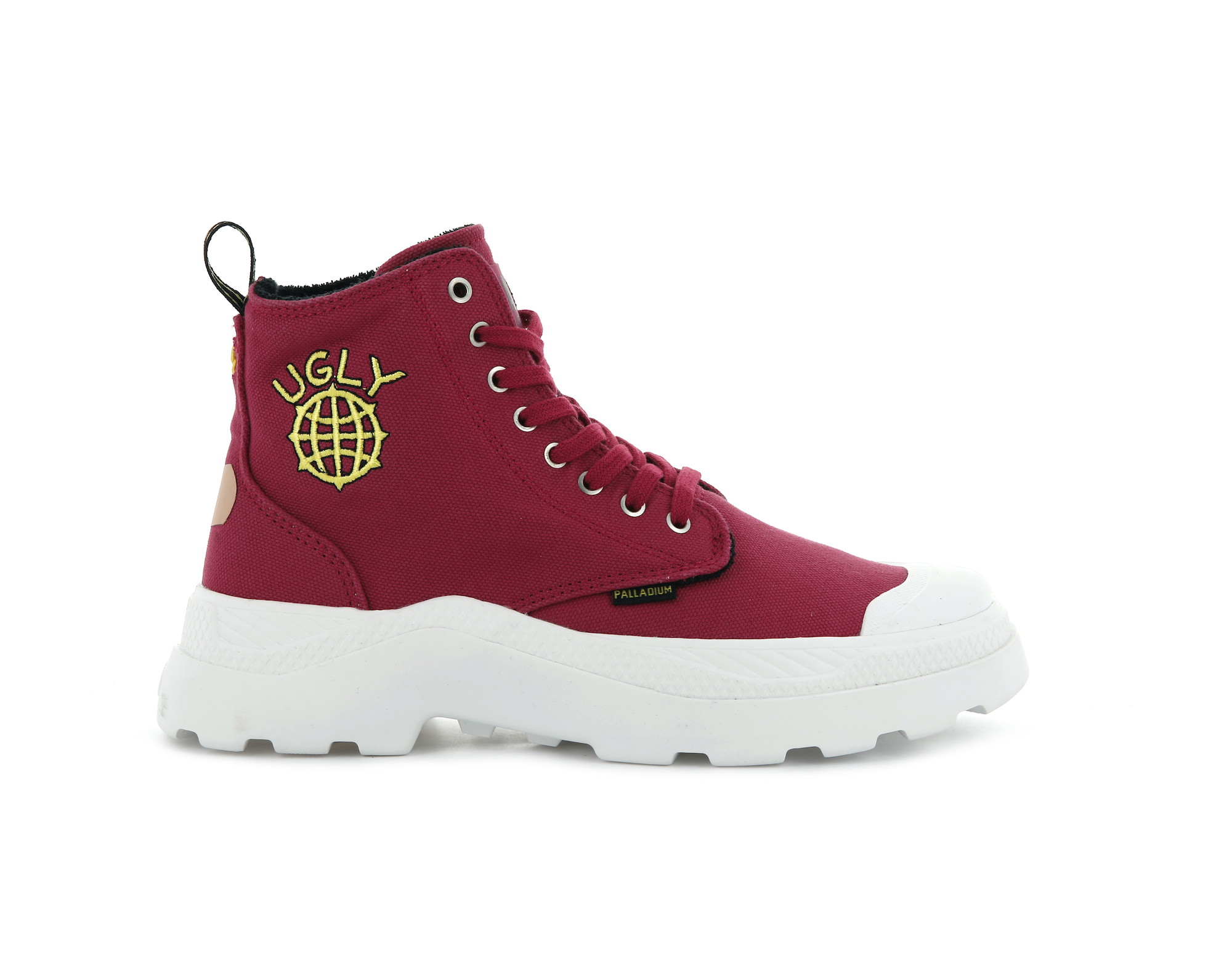 Palladium x Ugly Worldwide red boots
