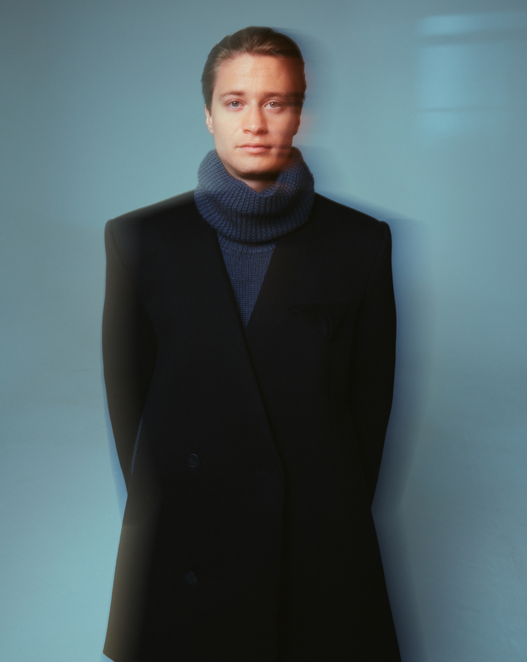 Kygo on the cover of Rollacoaster AW19 blue background