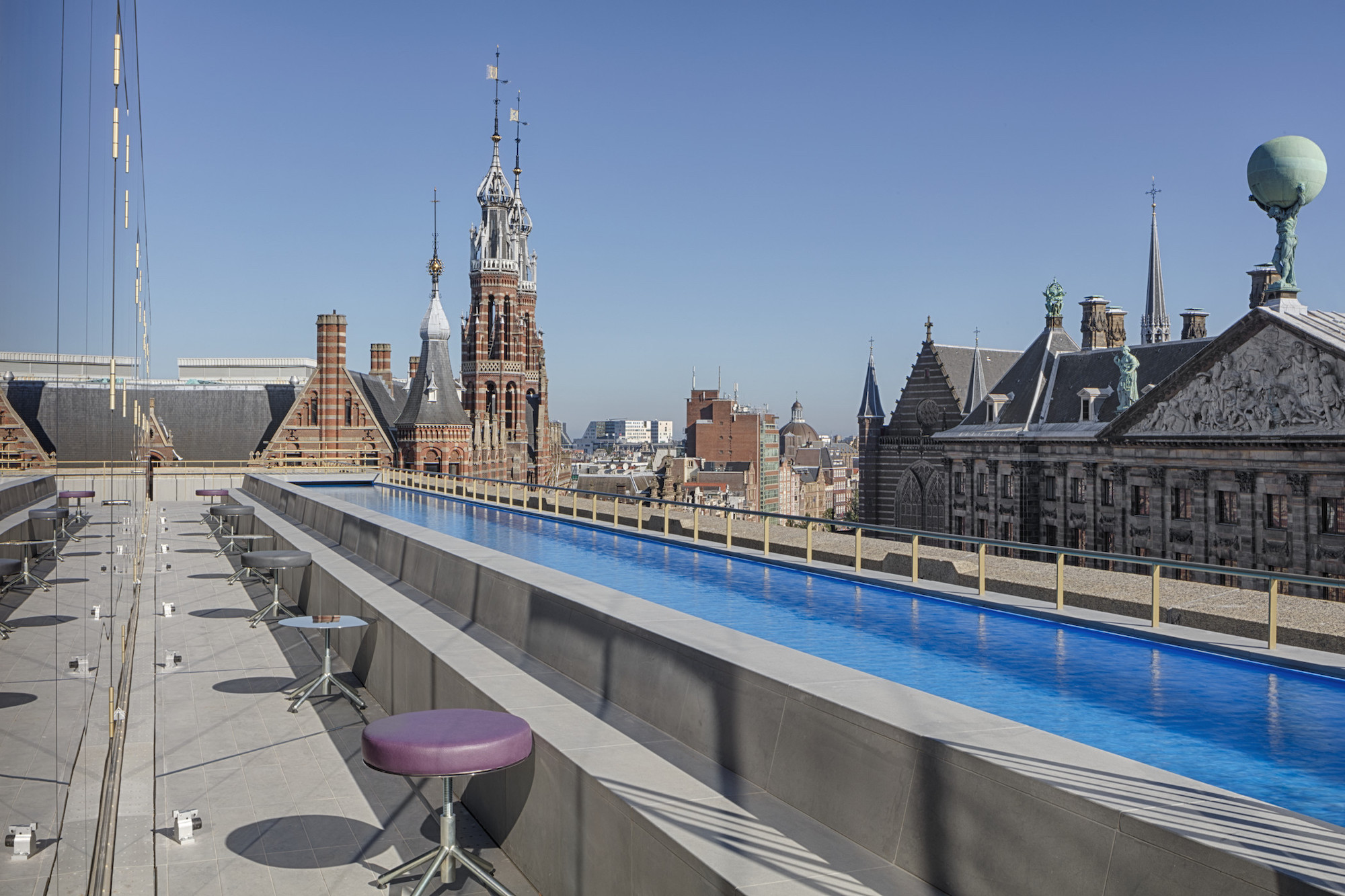 Wonderland hotel review Amsterdam rooftop pool