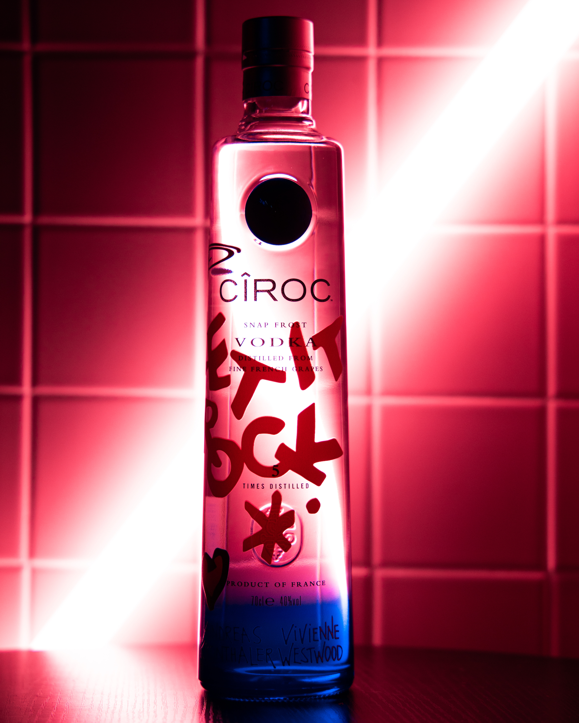 Ciroc x Vivienne Westwood bottle collaboration