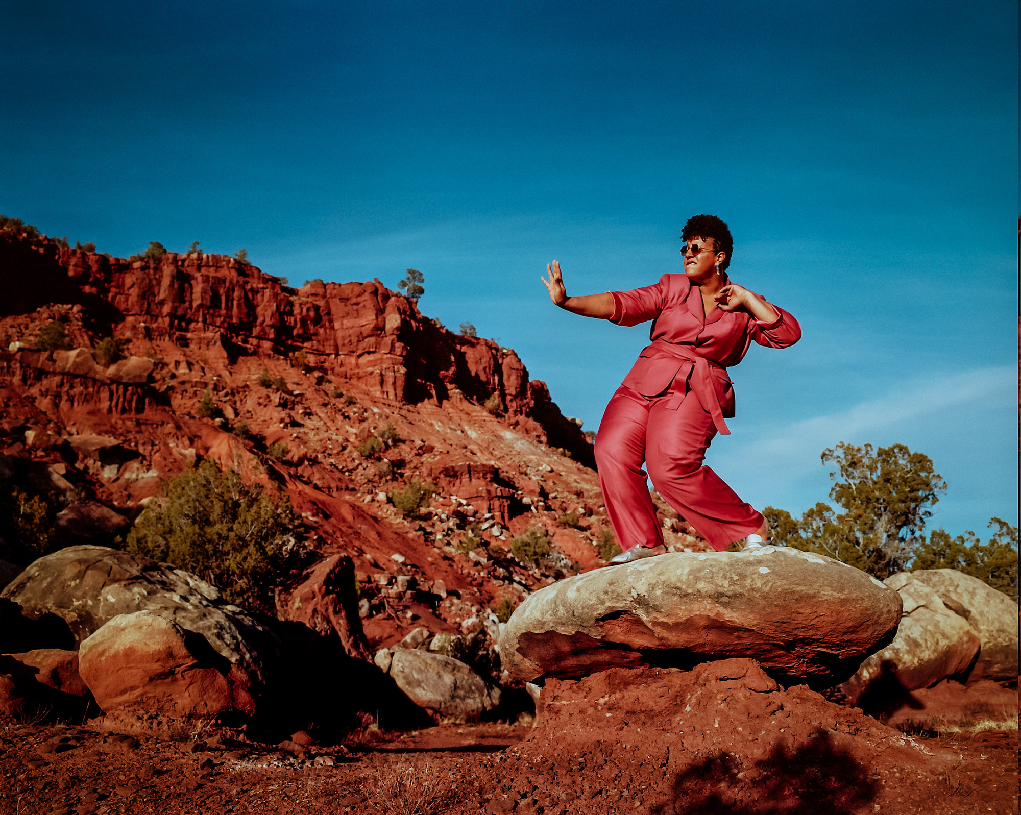 Brittany Howard for new album Jaime pink outfit