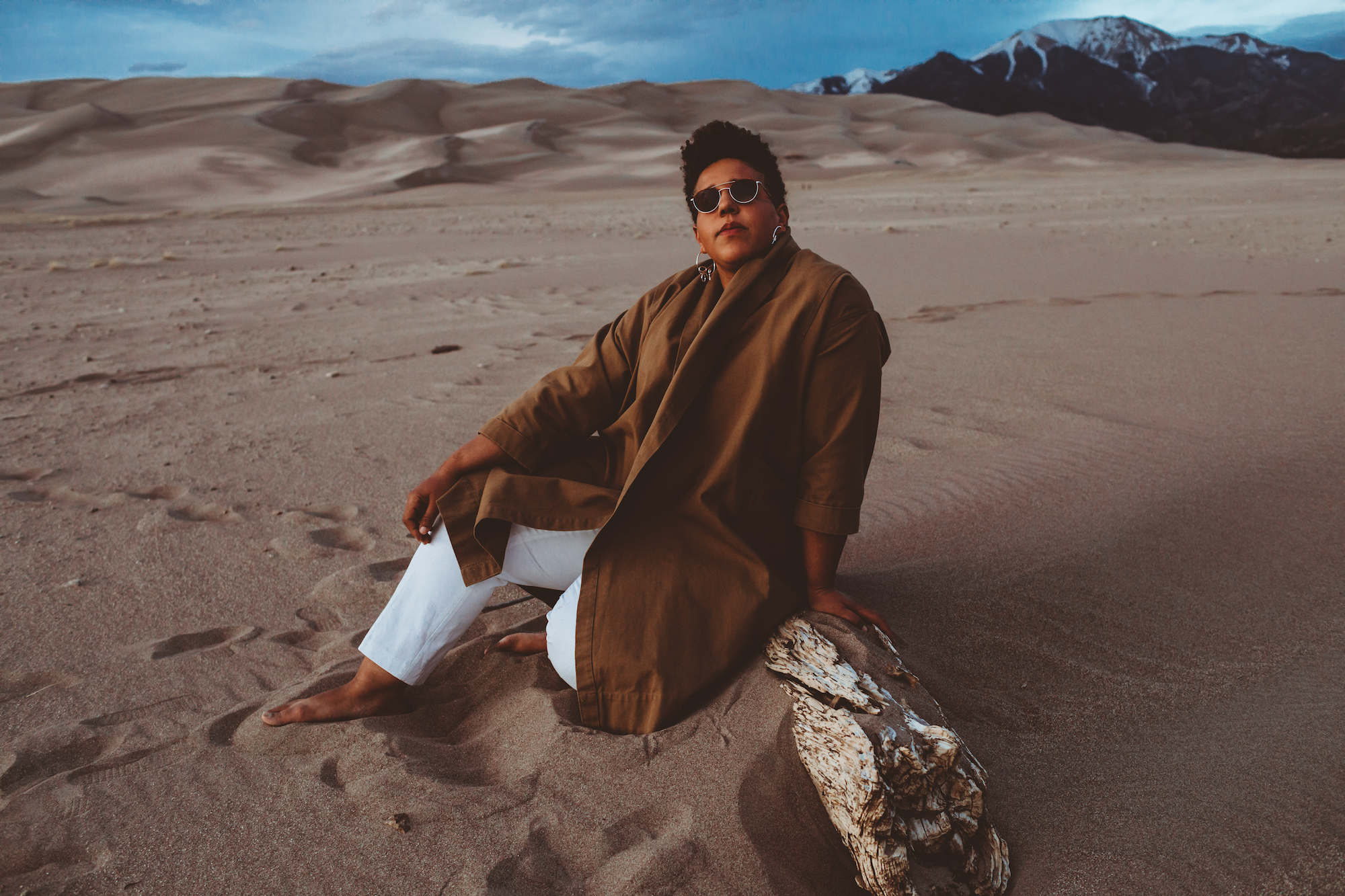 Brittany Howard for new album Jaime brown coat outfit