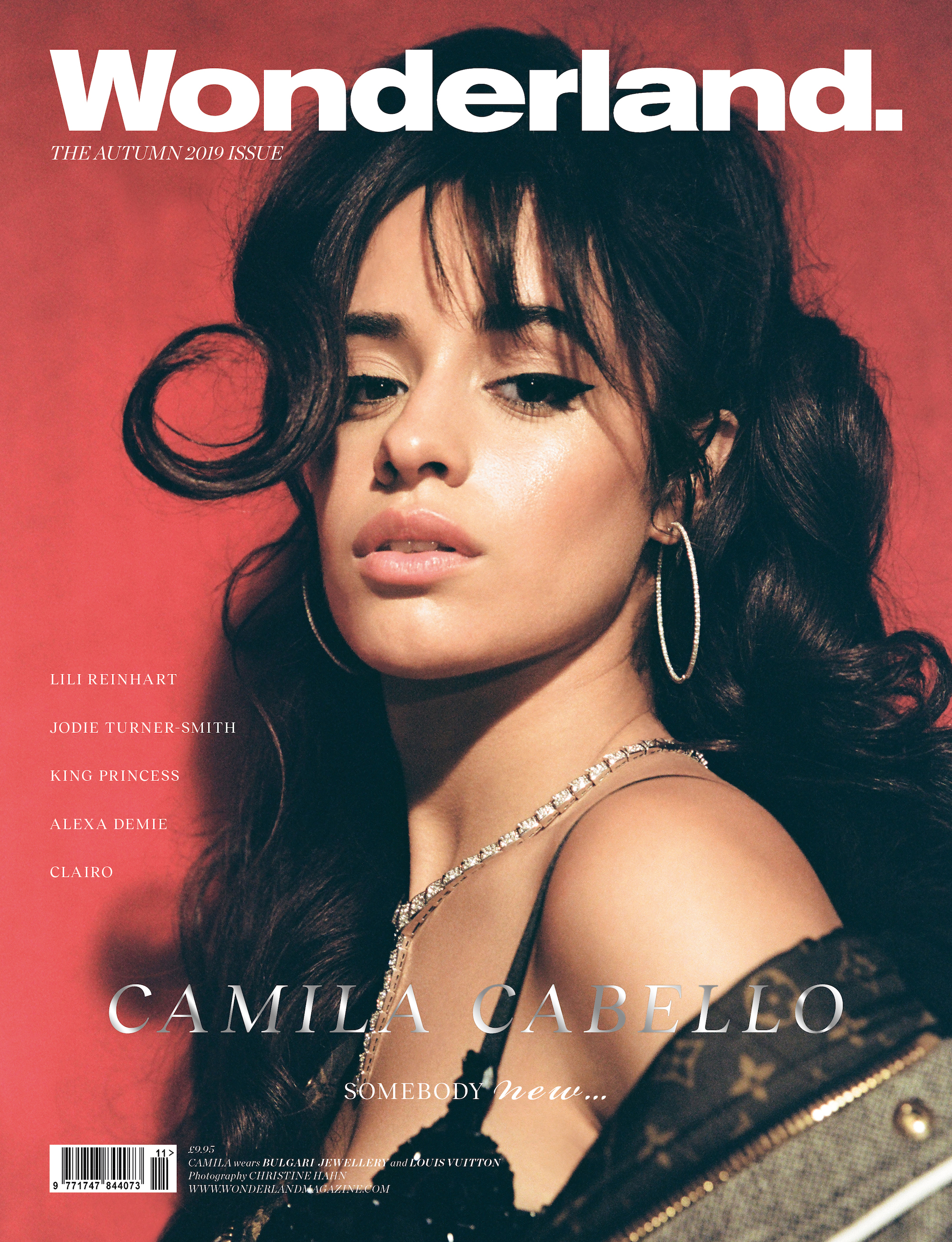Camila Cabello cover of Wonderland Autumn 19 issue