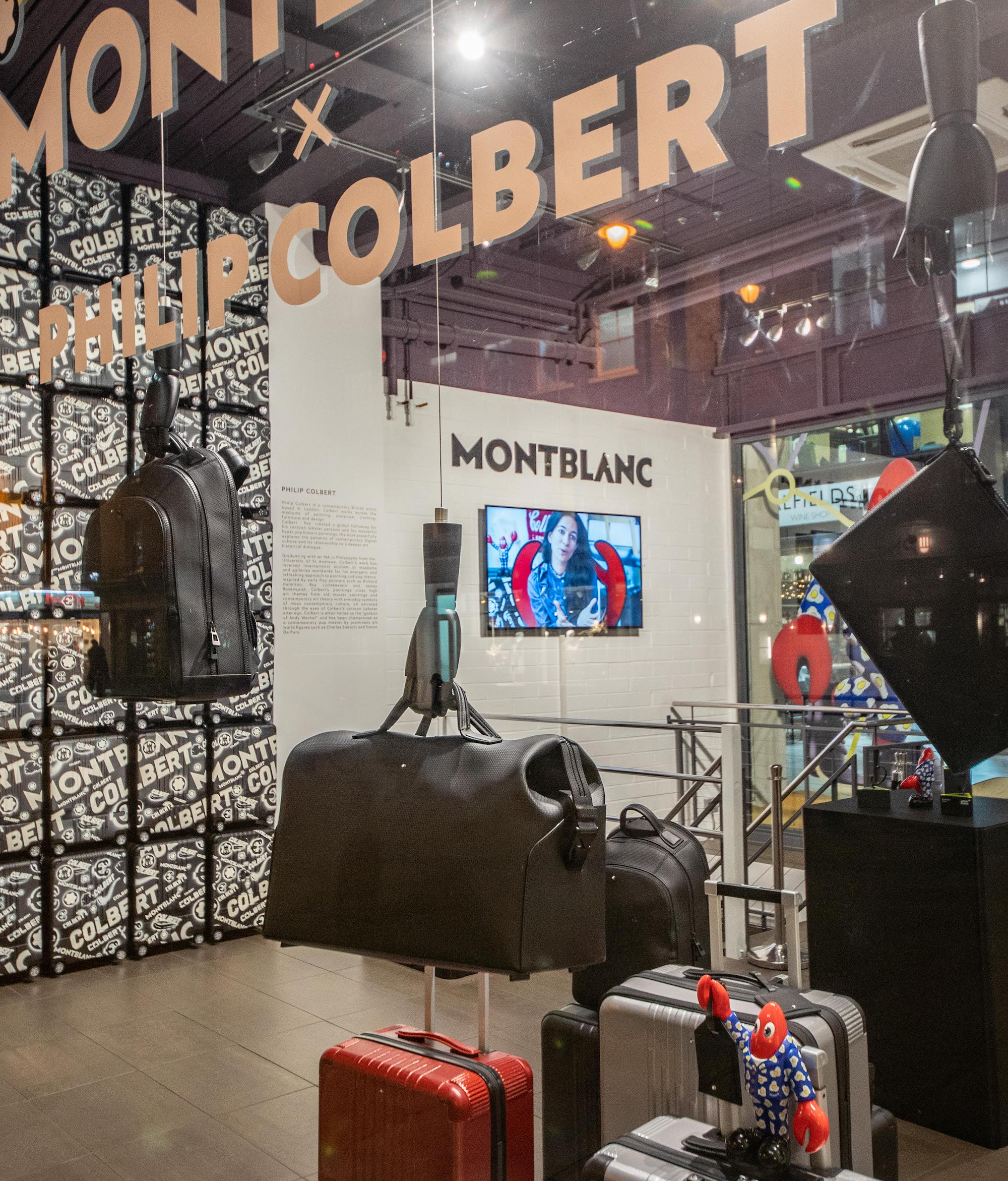 Montblanc Philip Colbert In Transit East London Pop Up Bags