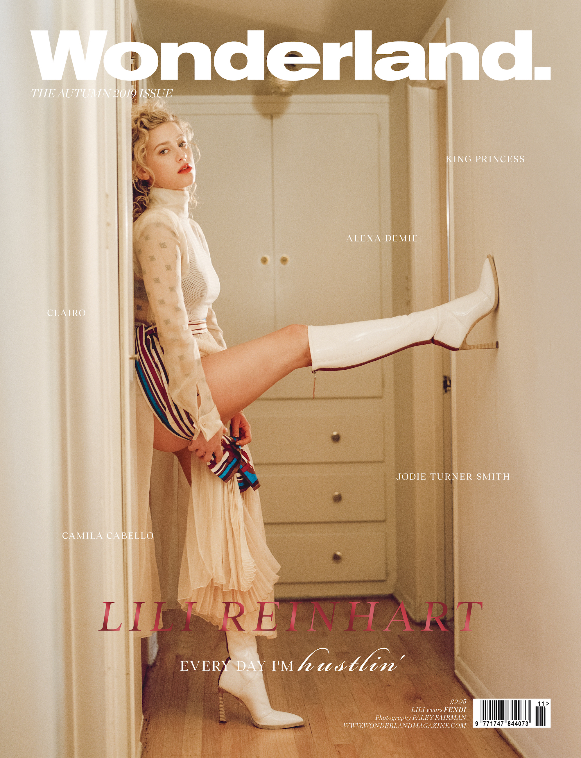 Lili Reinhart cover of Wonderland Autumn 19 issue