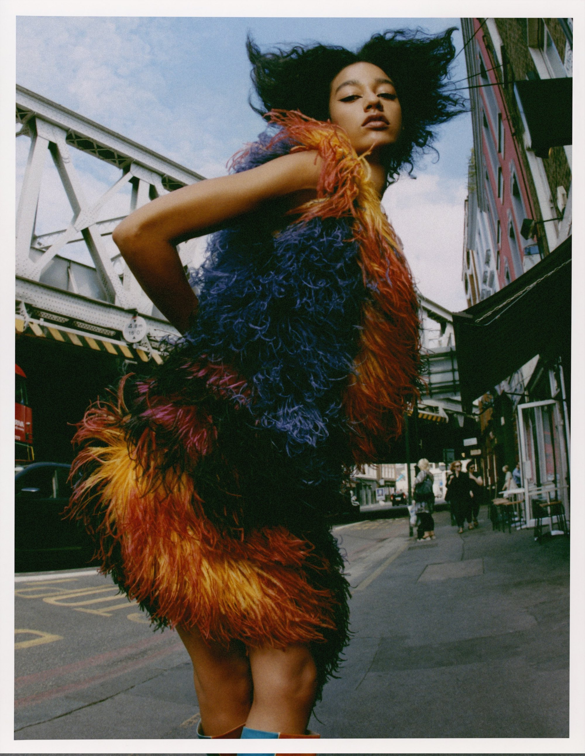 She lives for the thrill fashion editorial Autumn 19 issue faux fur