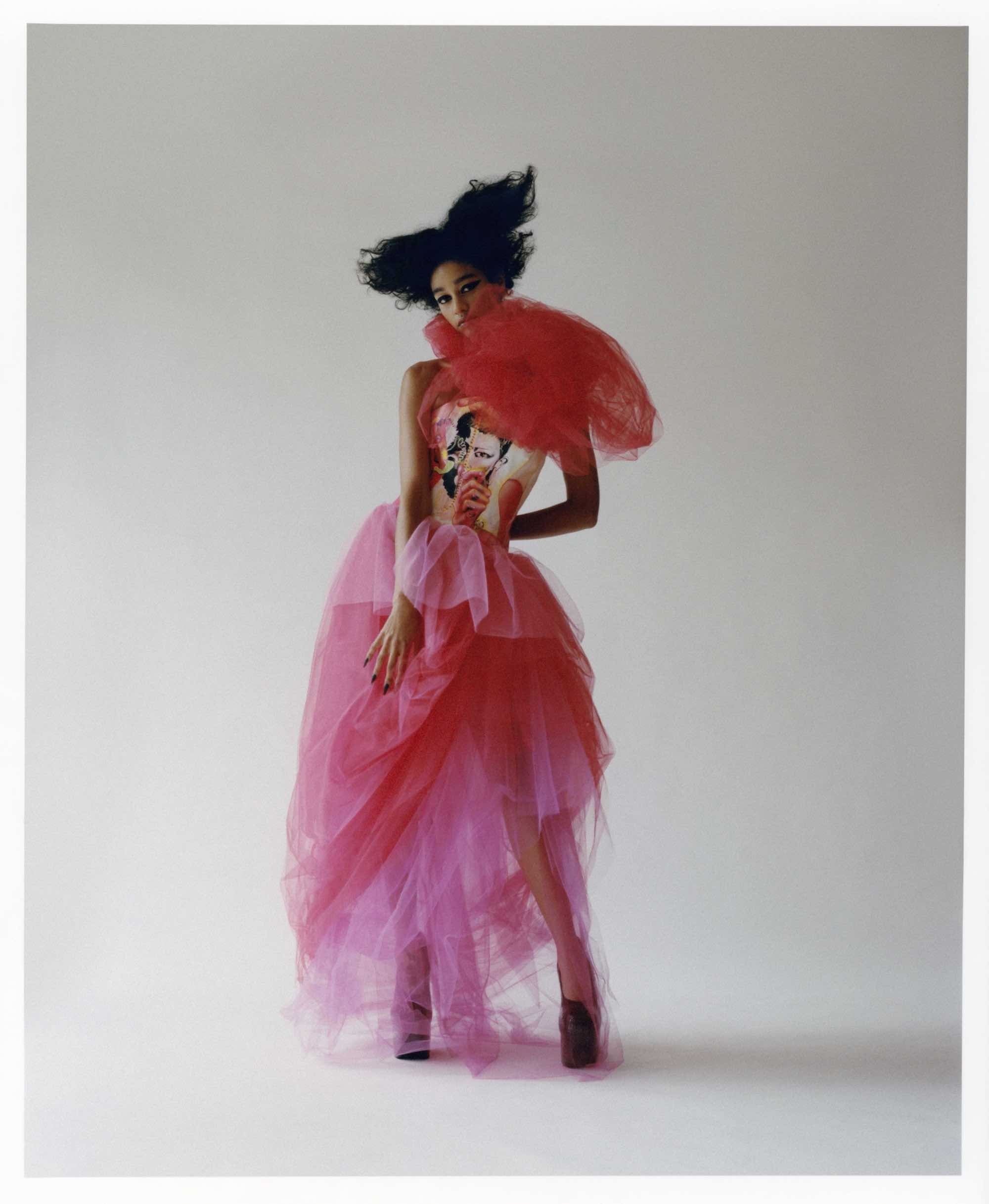 She lives for the thrill fashion editorial Autumn 19 issue pink dress
