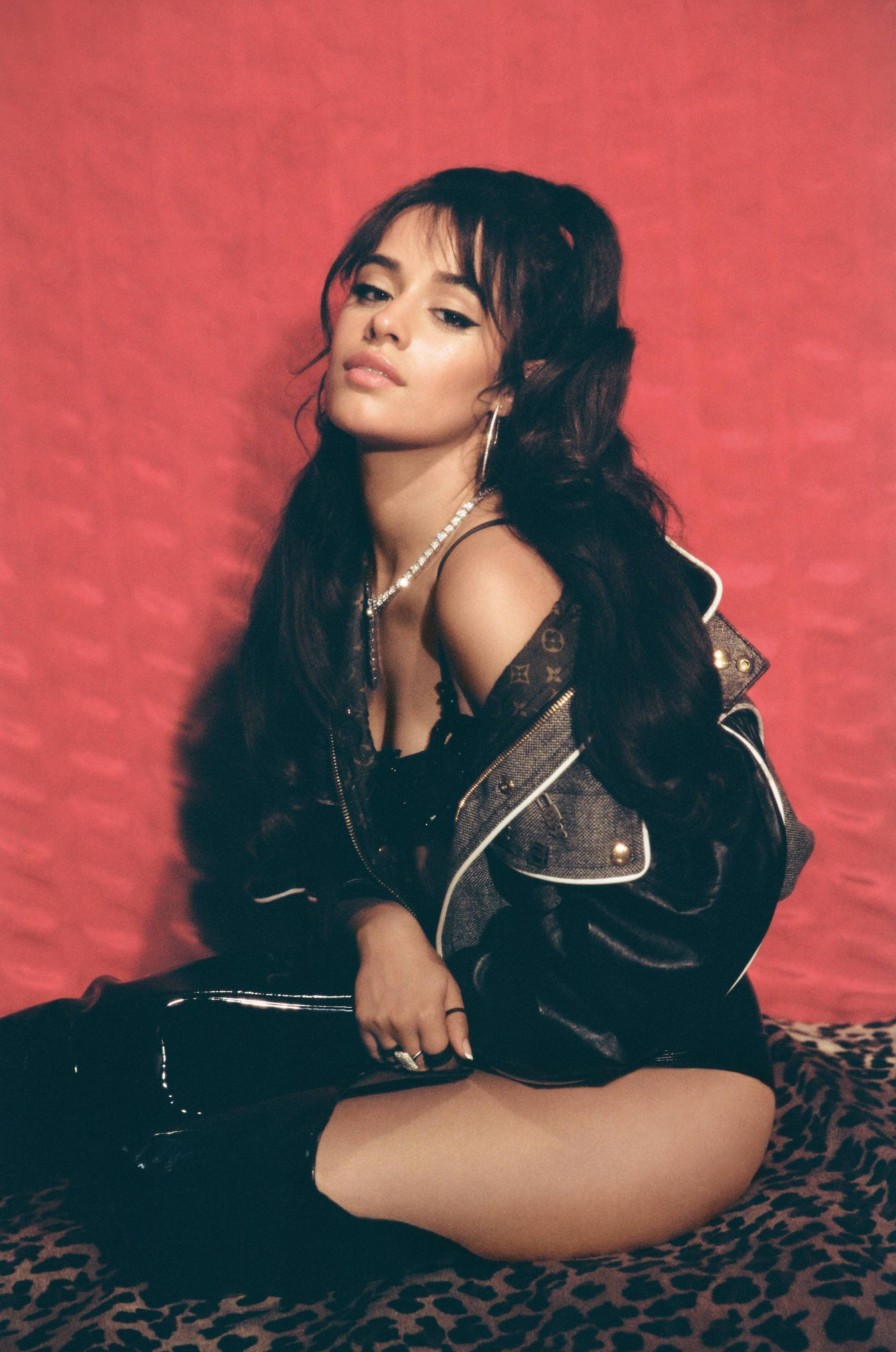 Wonderland Autumn 19 issue interview Camila Cabello leather jacket