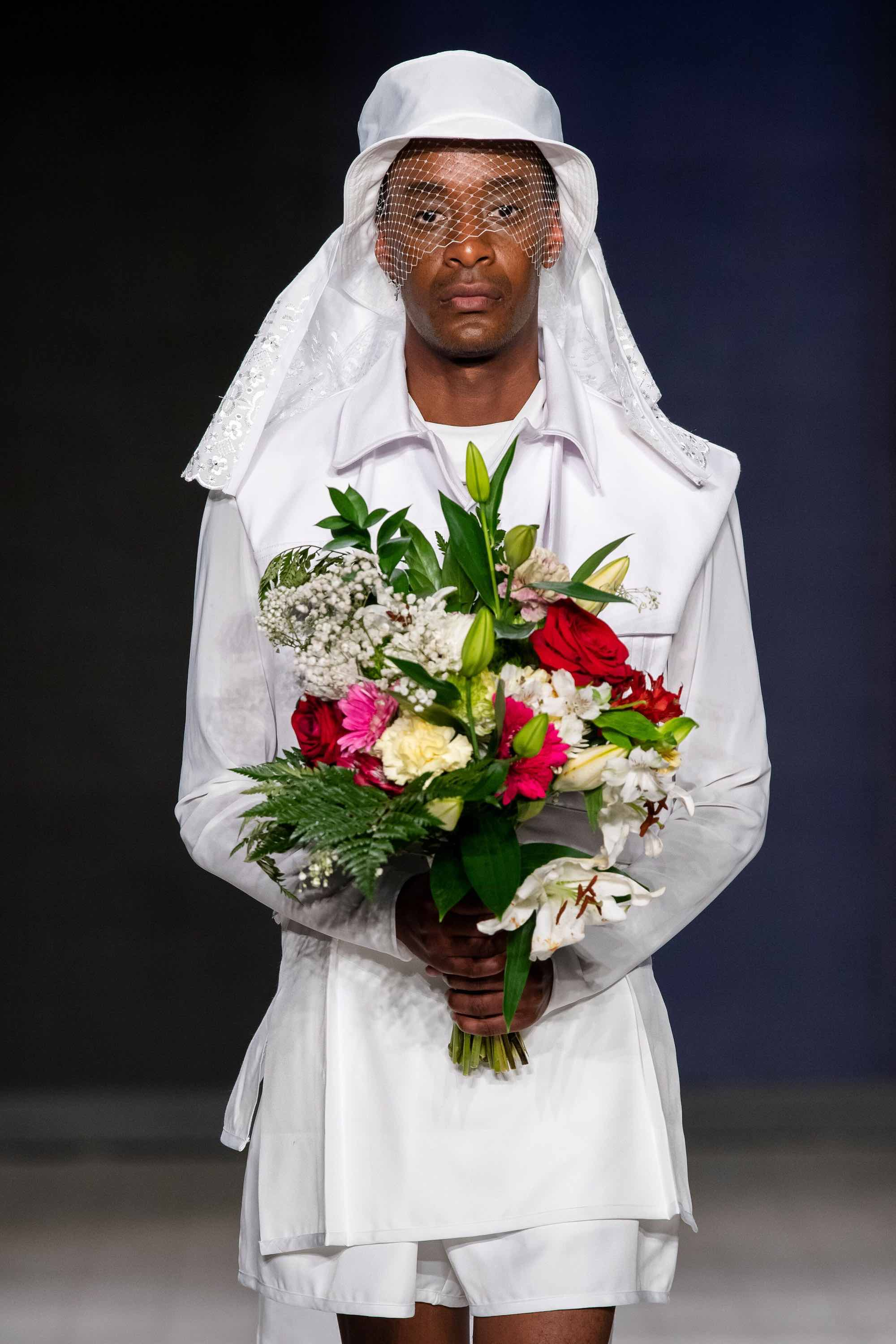 Denzil Mapfumo bride look vancouver fashion week
