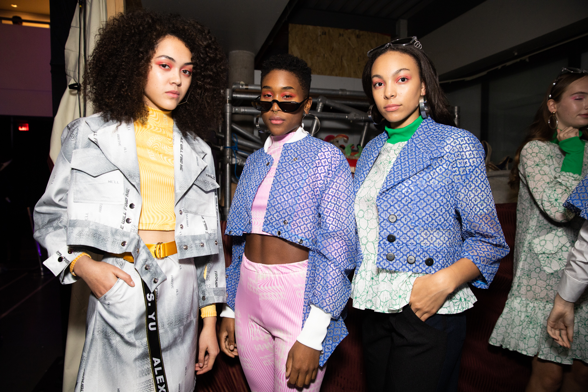 pastel jackets vancouver fashion week backstage