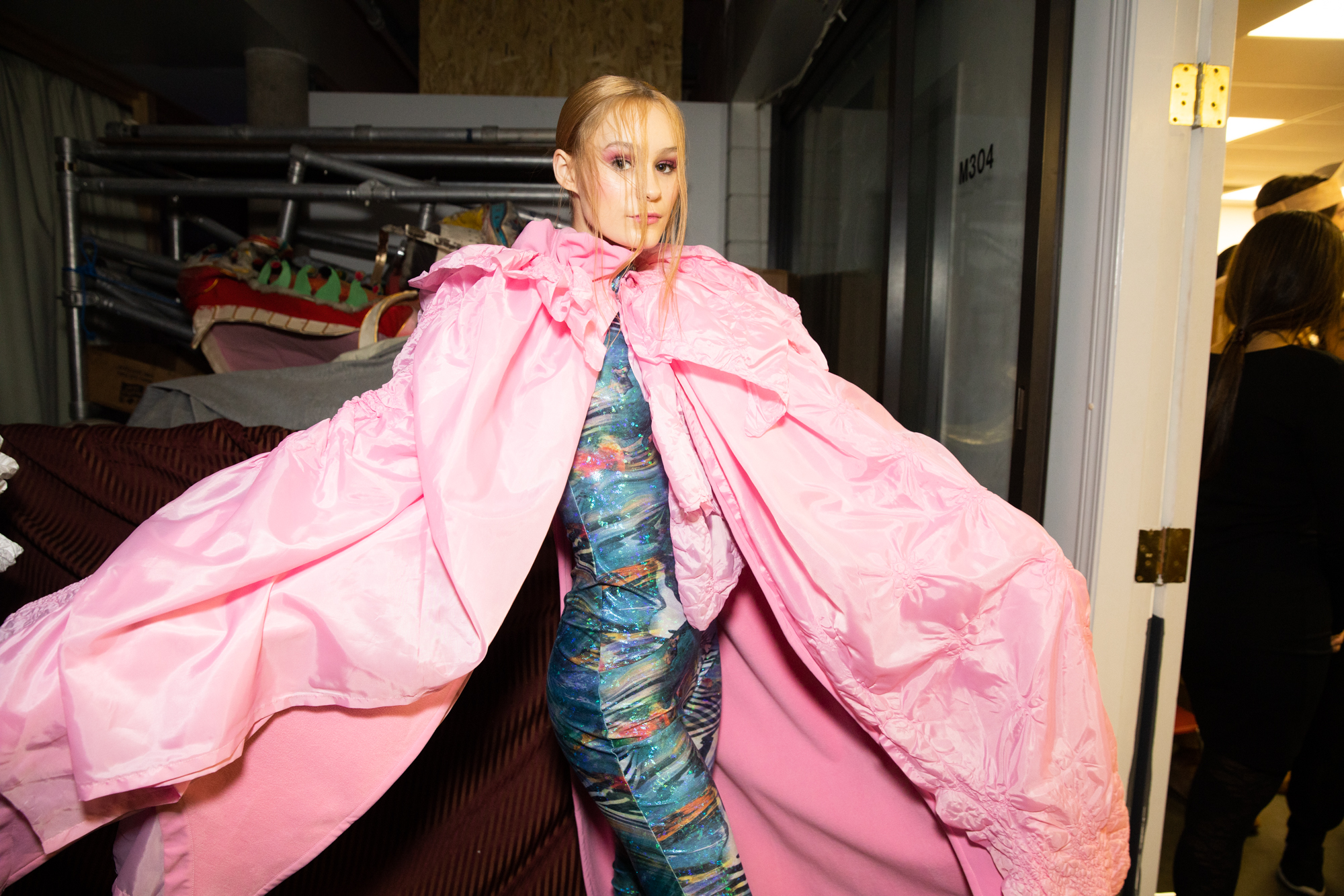 pink cape vancouver fashion week backstage