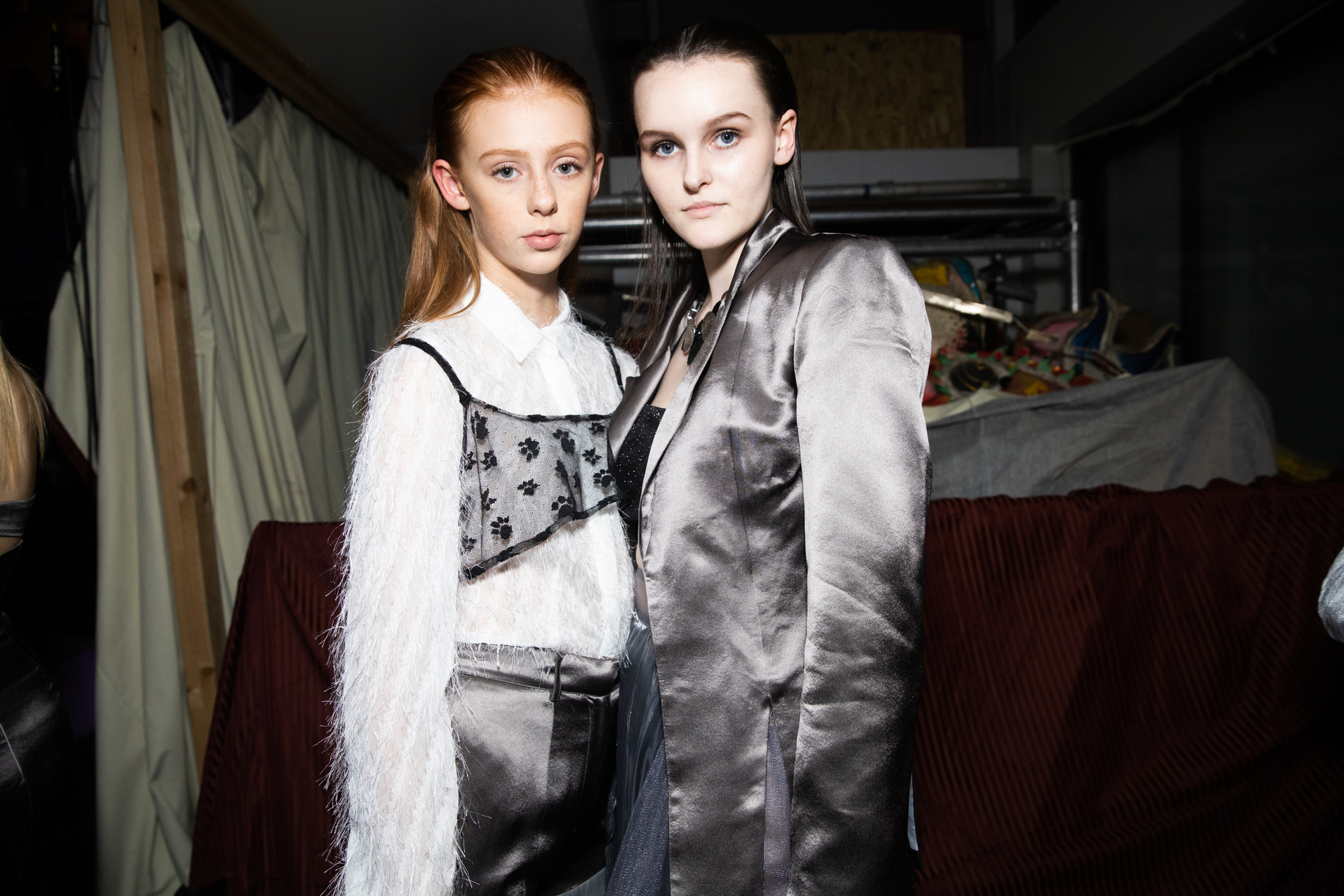 grey looks layered vancouver fashion week backstage