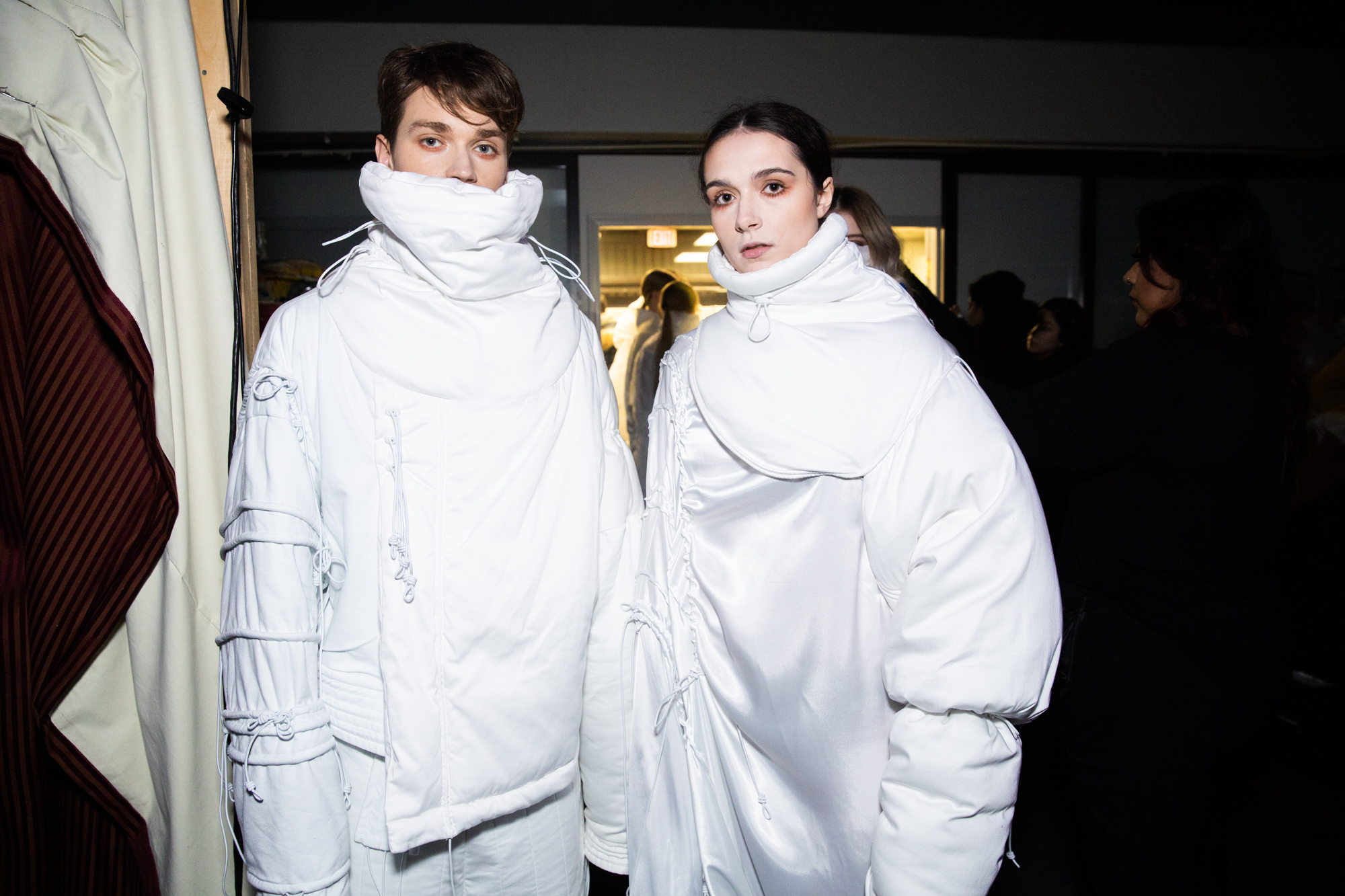 white coats vancouver fashion week backstage