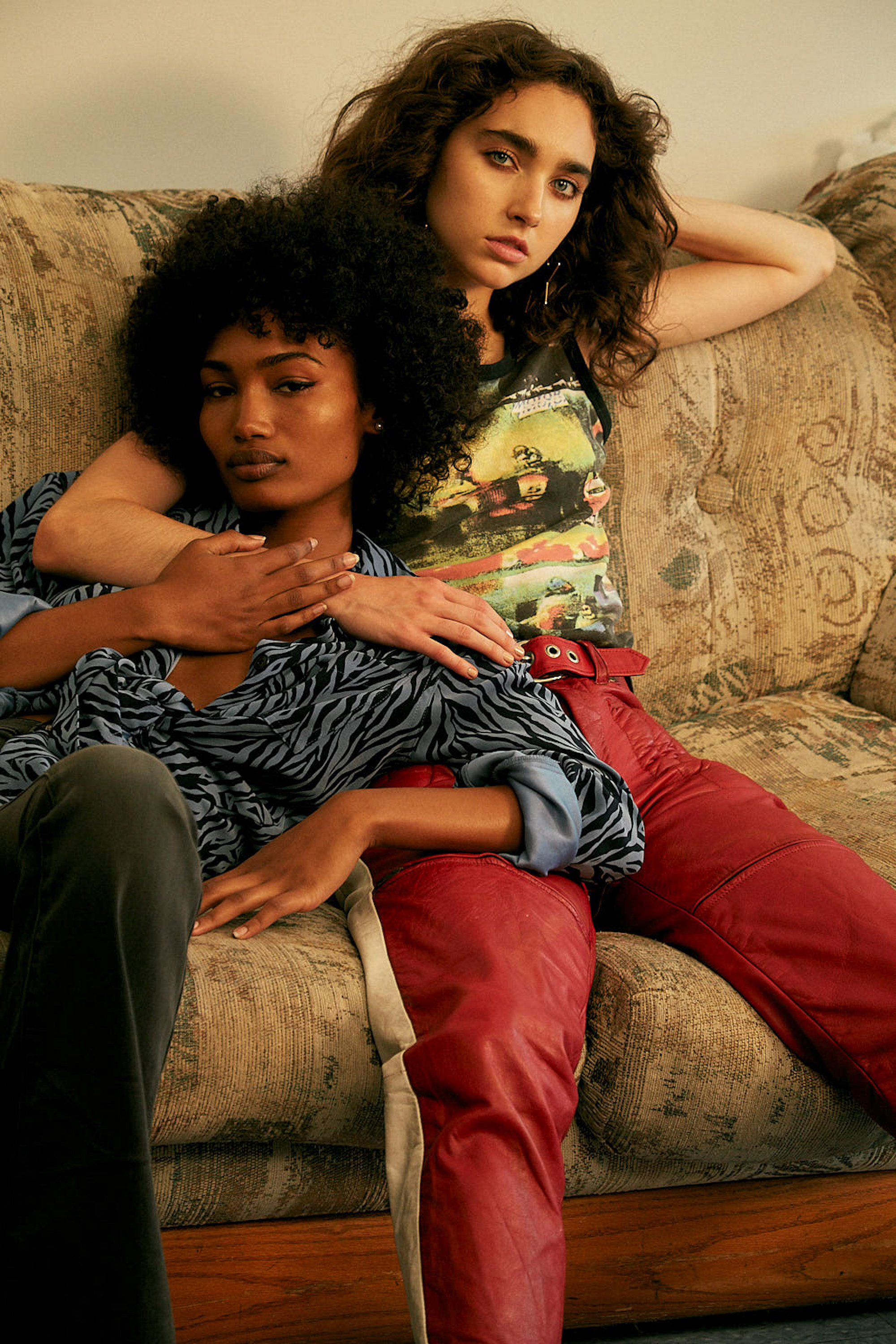 Wonderland fashion editorial You Can Sit With Us sofa