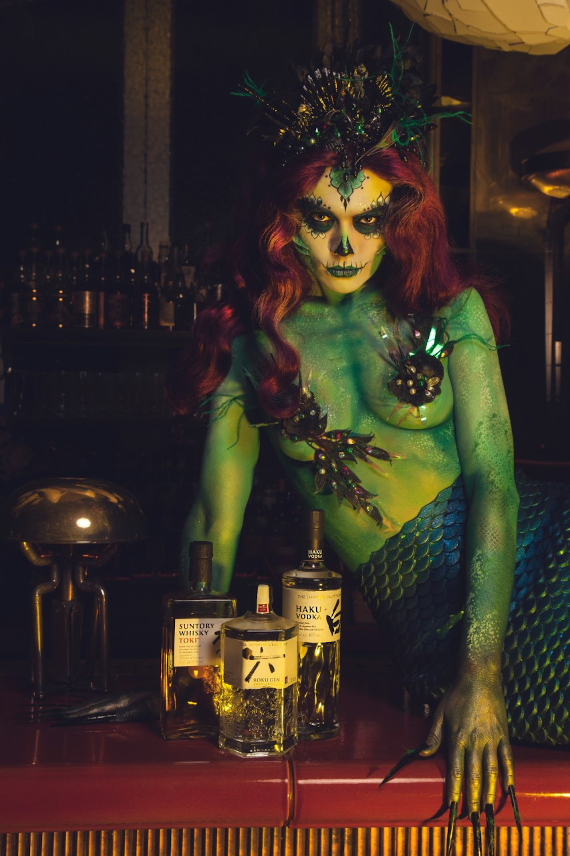 Mermaid Scary Fish Sexy Fish Mayfair Day of the Dead dinner