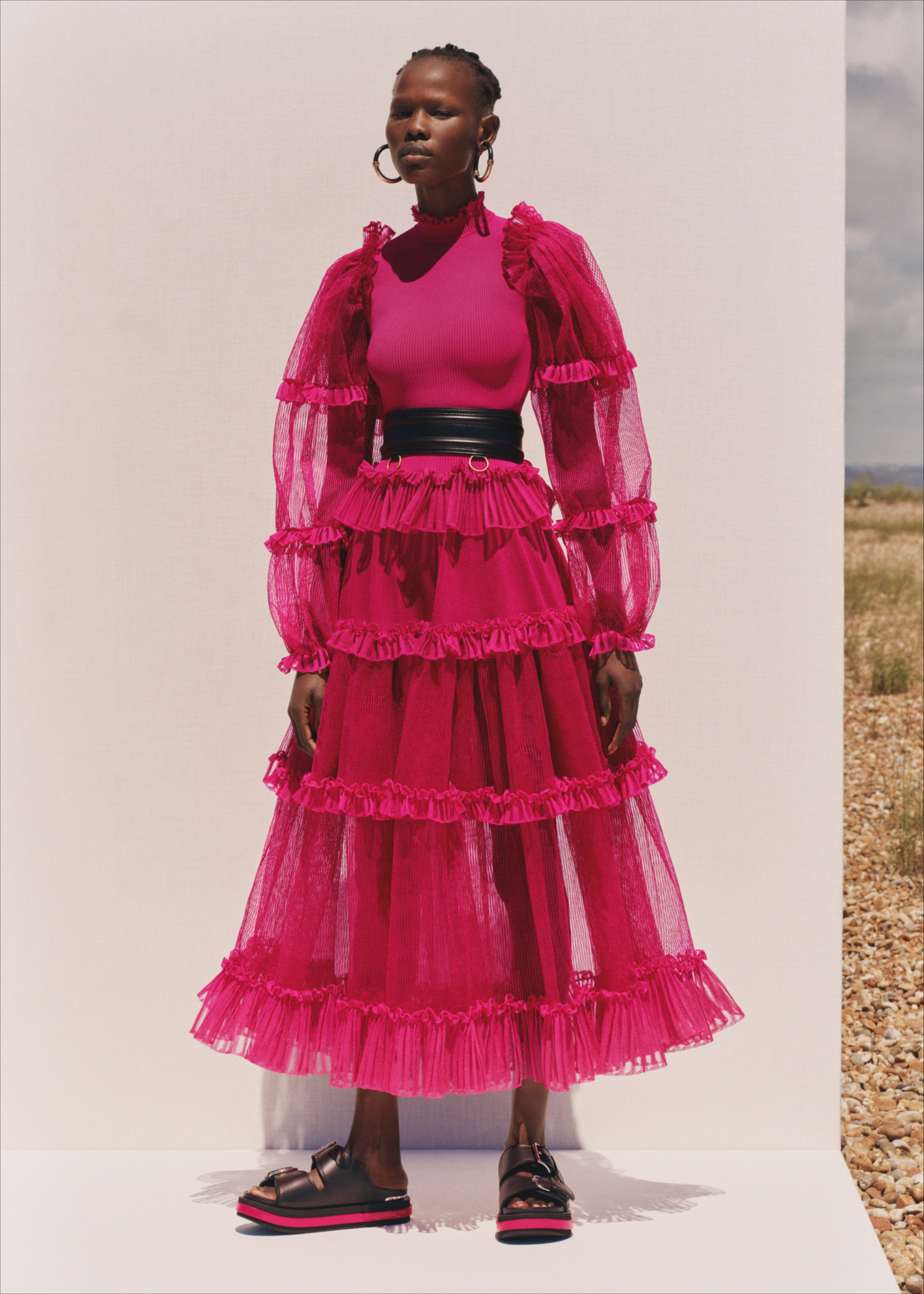 Alexander McQueen SS20 pink dress