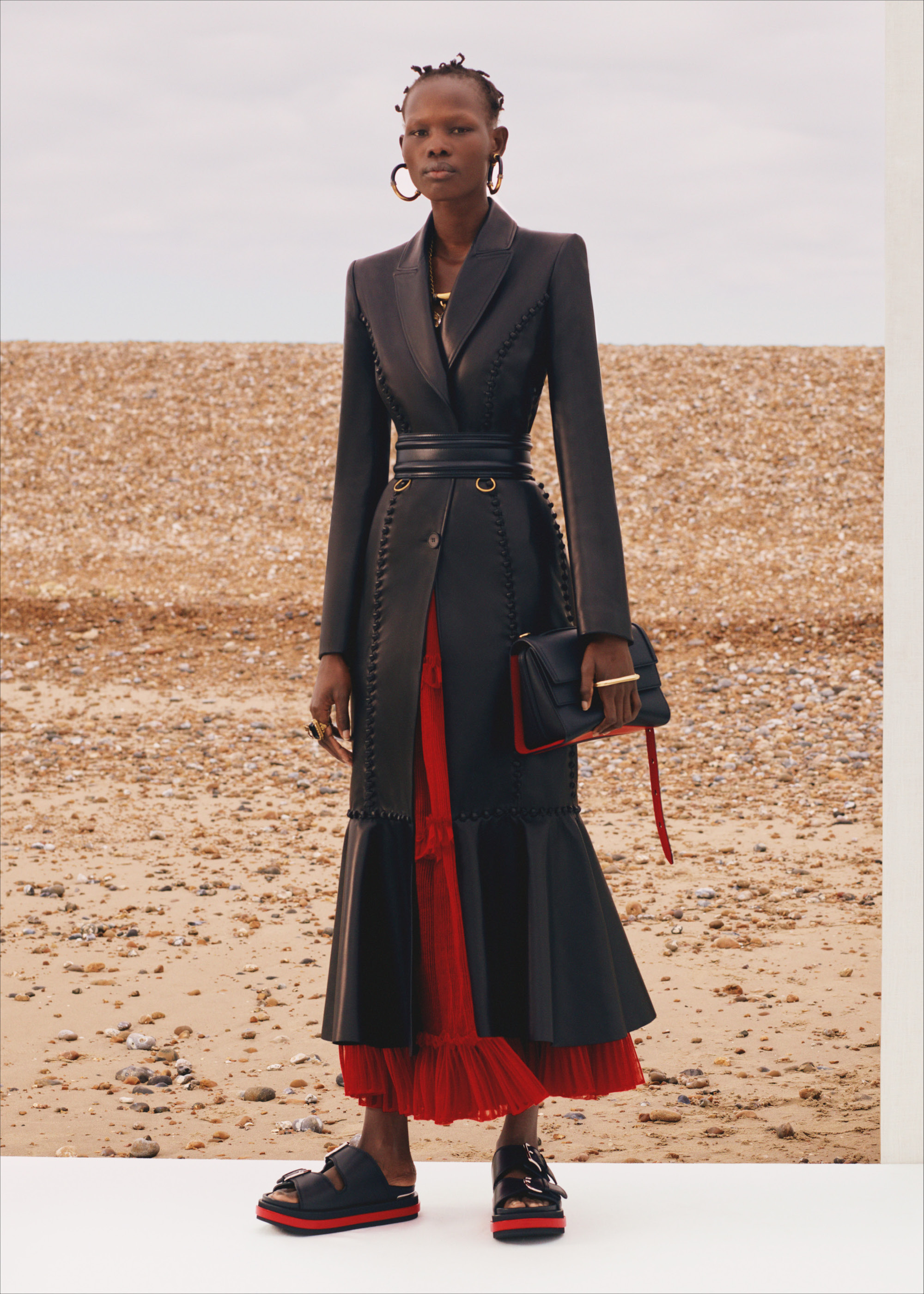 Alexander McQueen SS20 long black coat