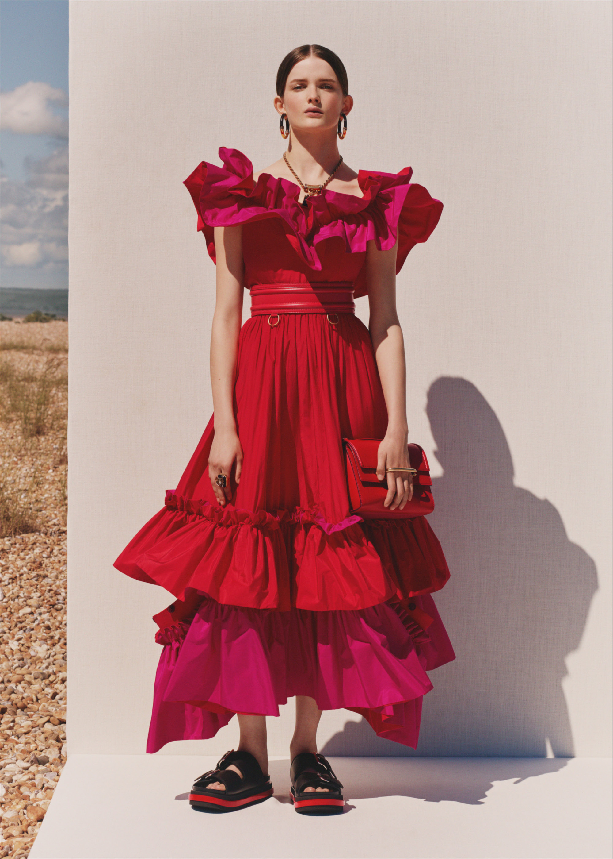 Alexander McQueen SS20 tiered dress