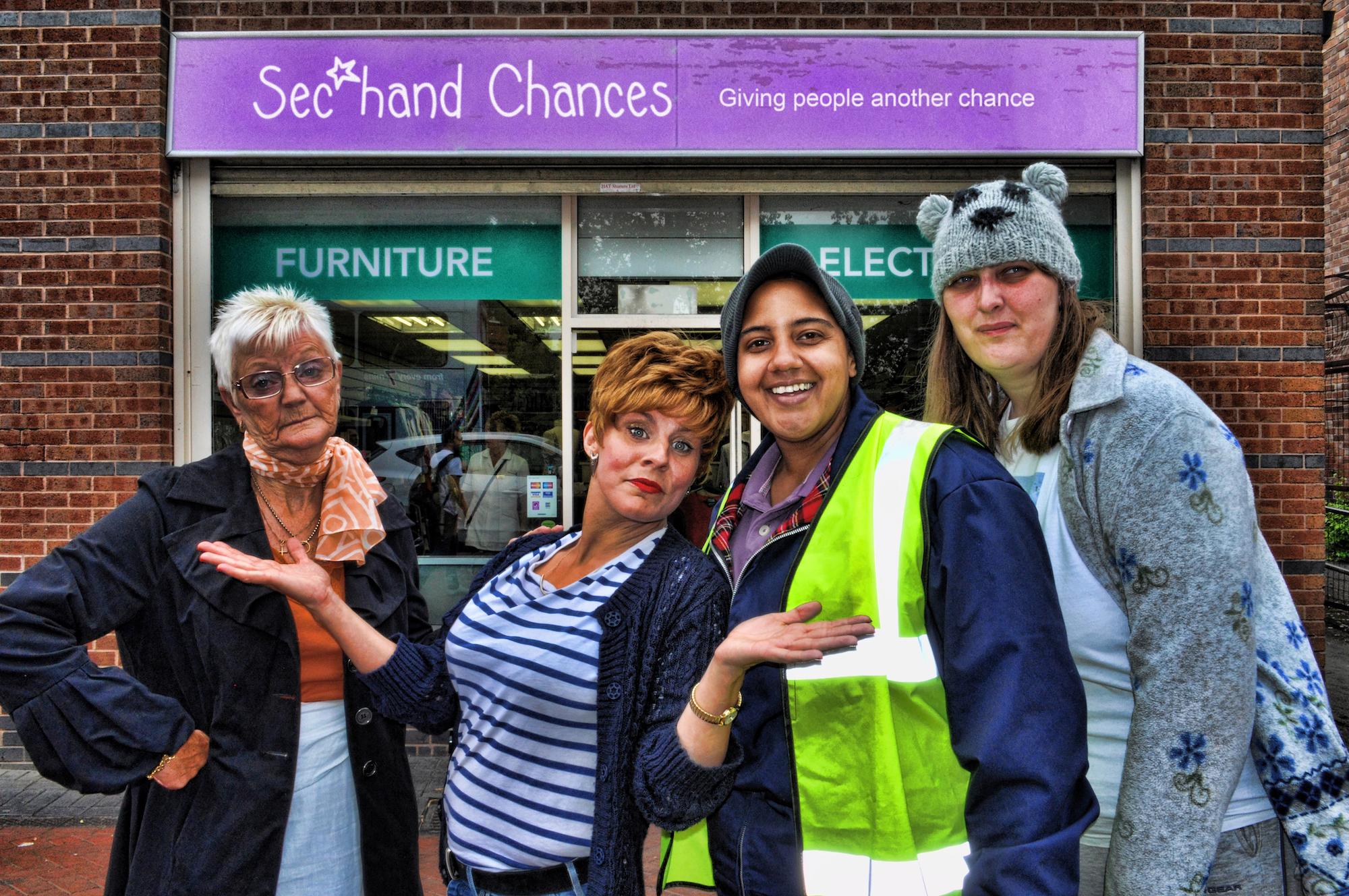 Celebrity Charity: Charity Shop Sue Sec*hand Chances Vera Kirsch Viki