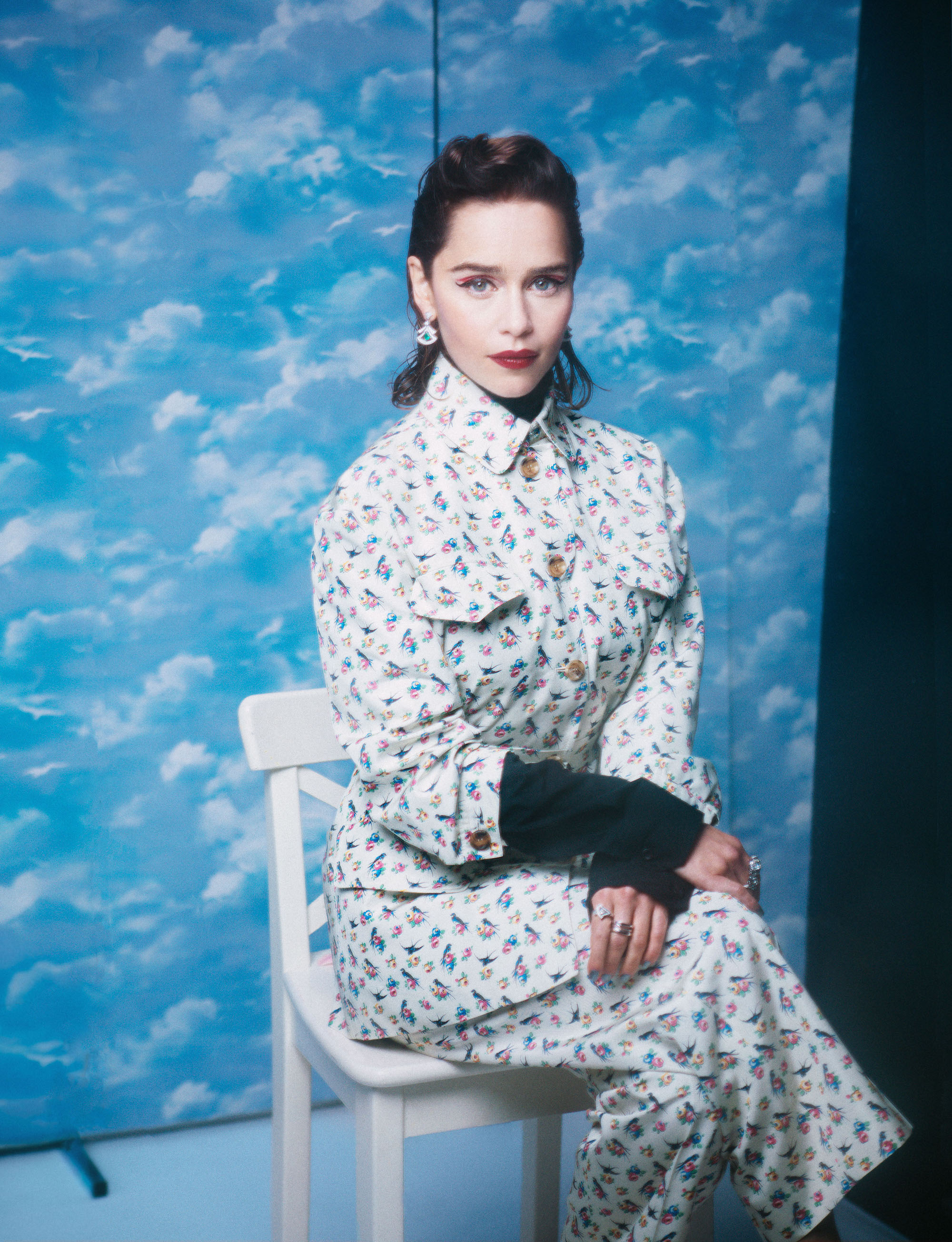 Emilia Clarke cover interview in Wonderland winter issue clouds