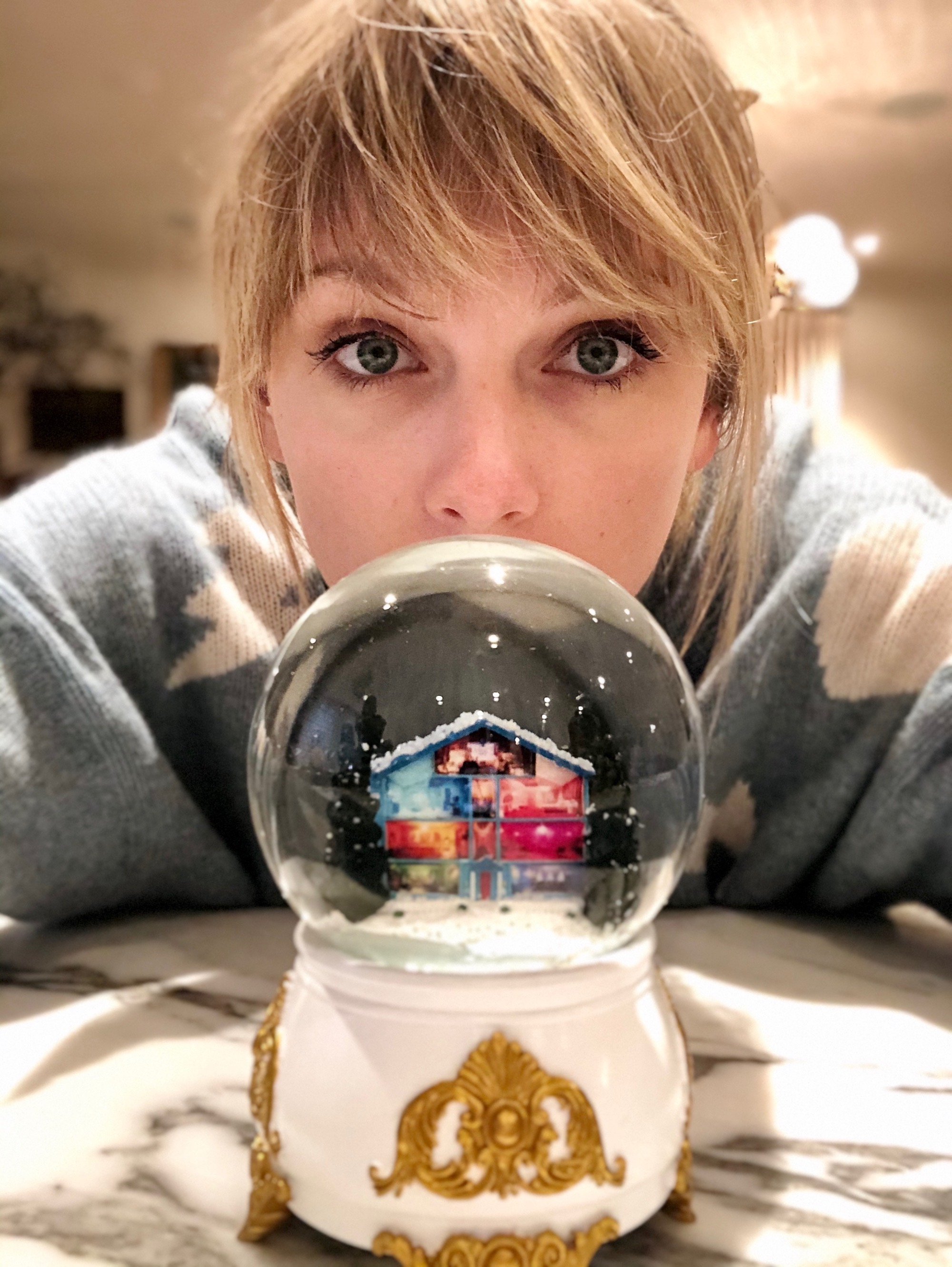 Taylor Swift Christmas Tree Farm snow globe