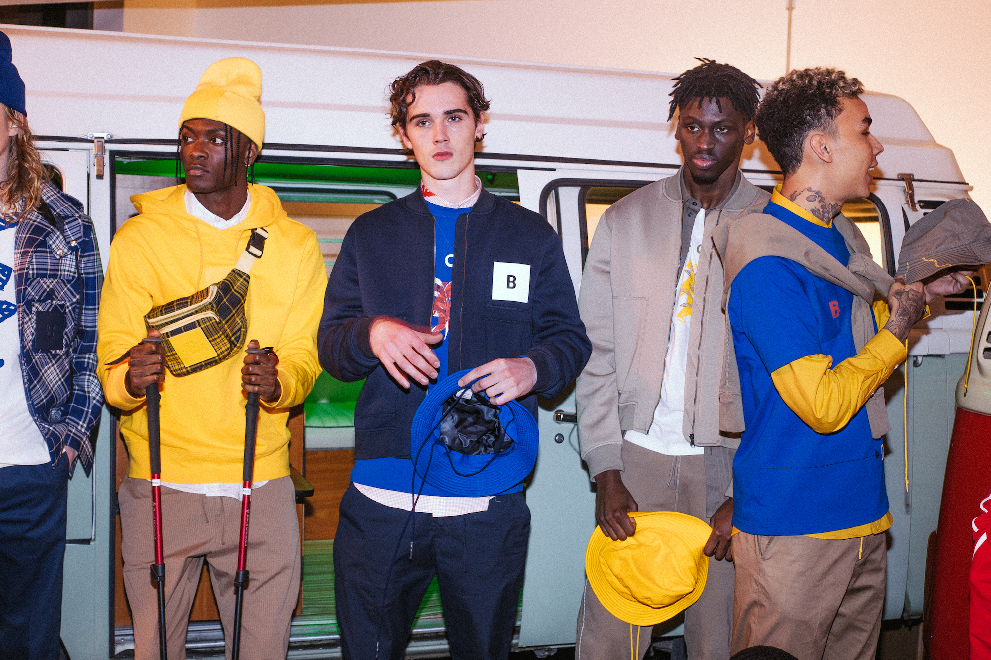 BAND OF OUTSIDERS JADE BERRY Blue Yellow Group
