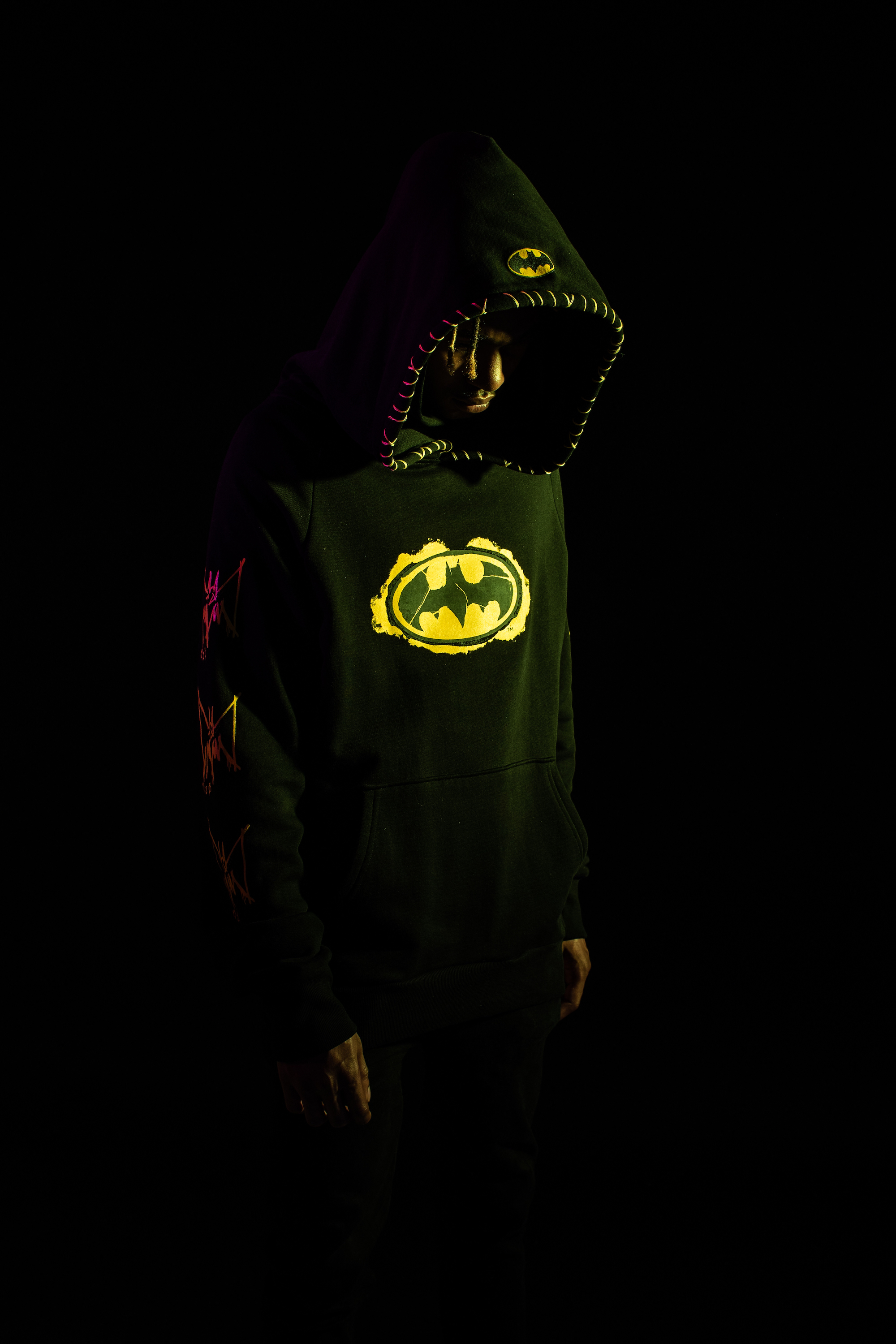 Marc Jacques Burton x Batman capsule collection hoodie side