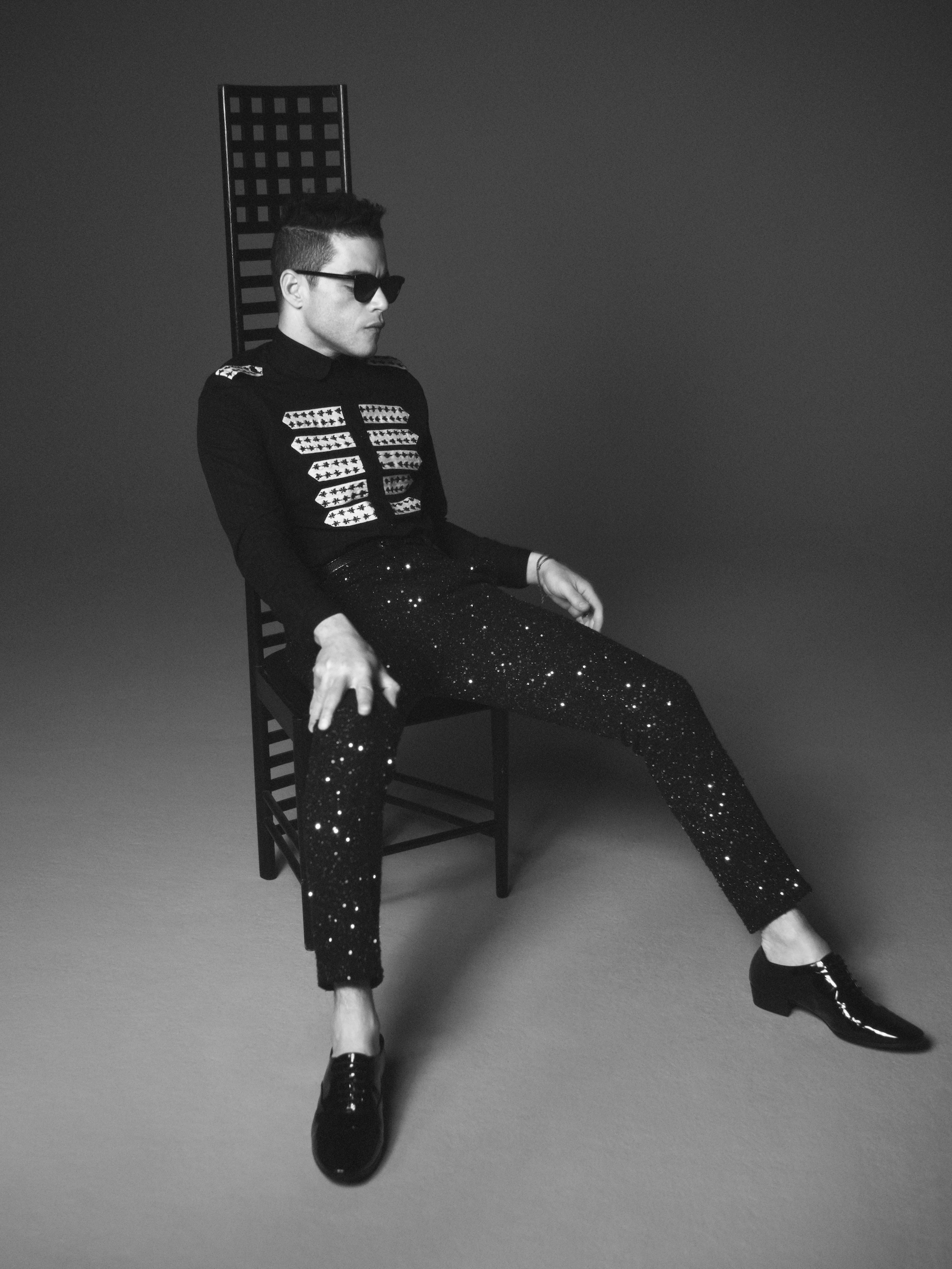 Rami Malek has been announced as the new face of Saint Laurent's menswear campaign sequin trousers