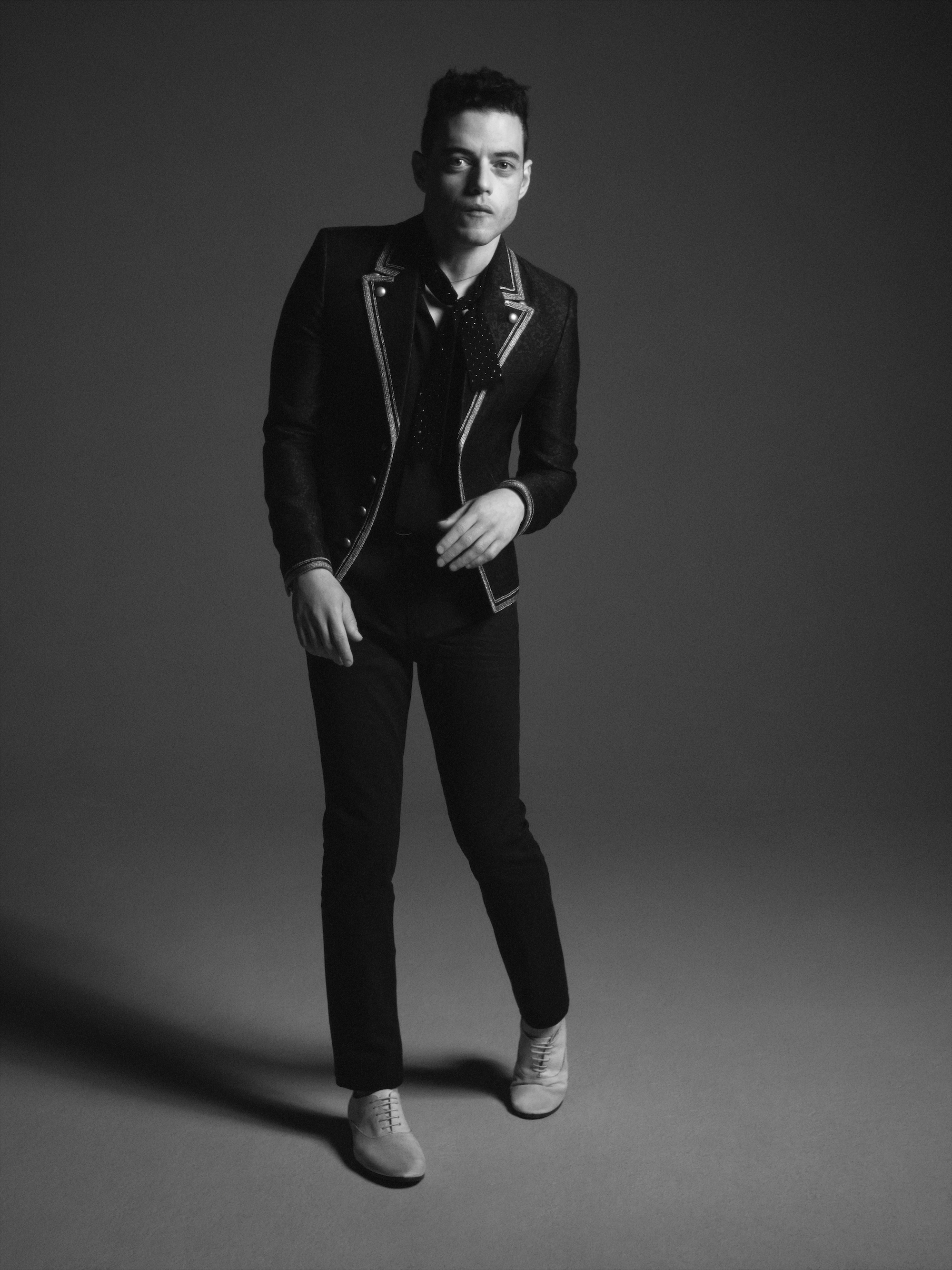 Rami Malek has been announced as the new face of Saint Laurent's menswear campaign black trousers