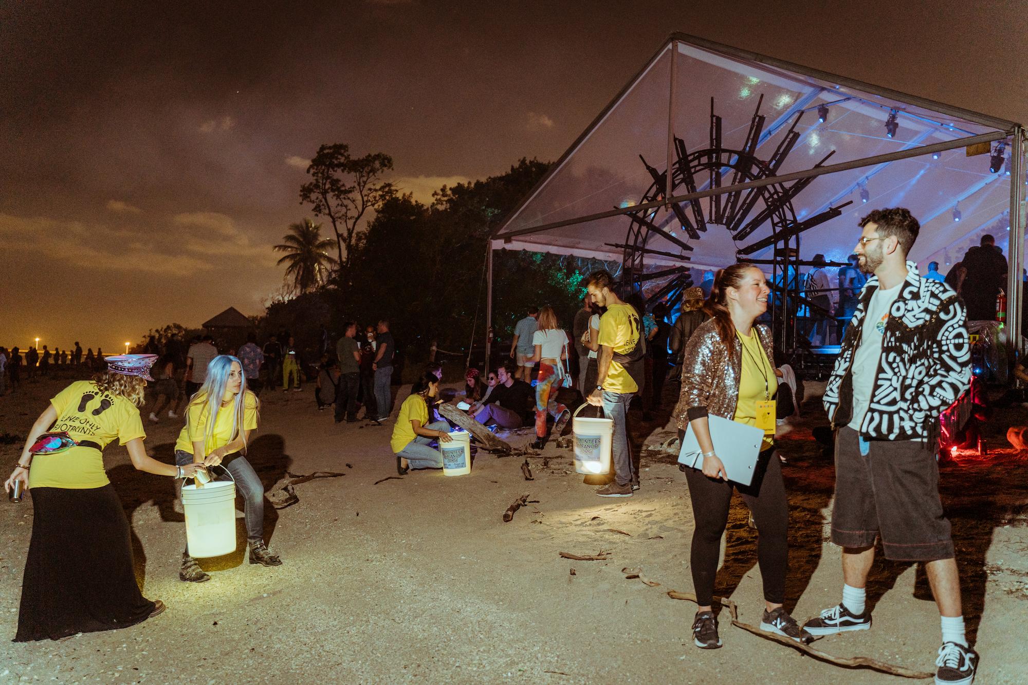 Cleaning up Rakastella Festival in Miami