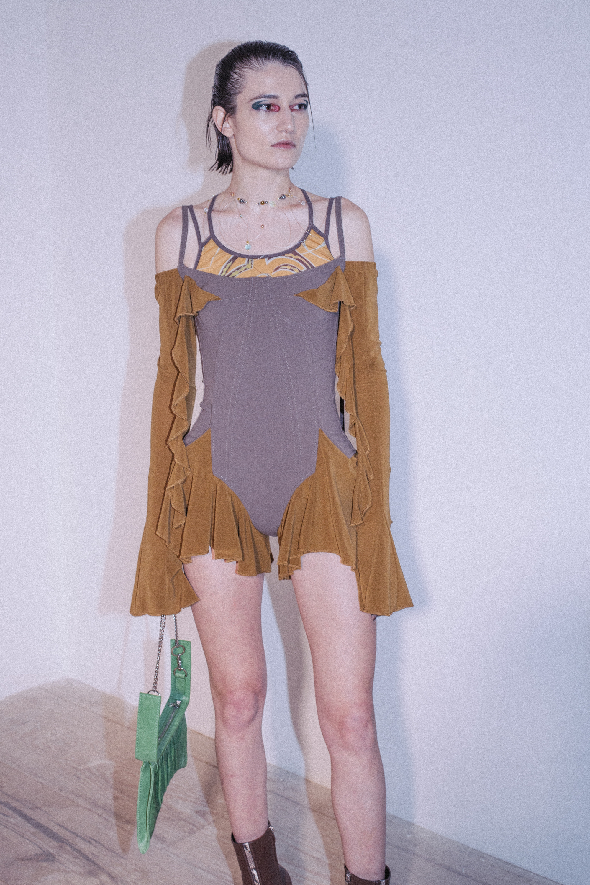 Charlotte Knowles AW20 for LFW swimsuit