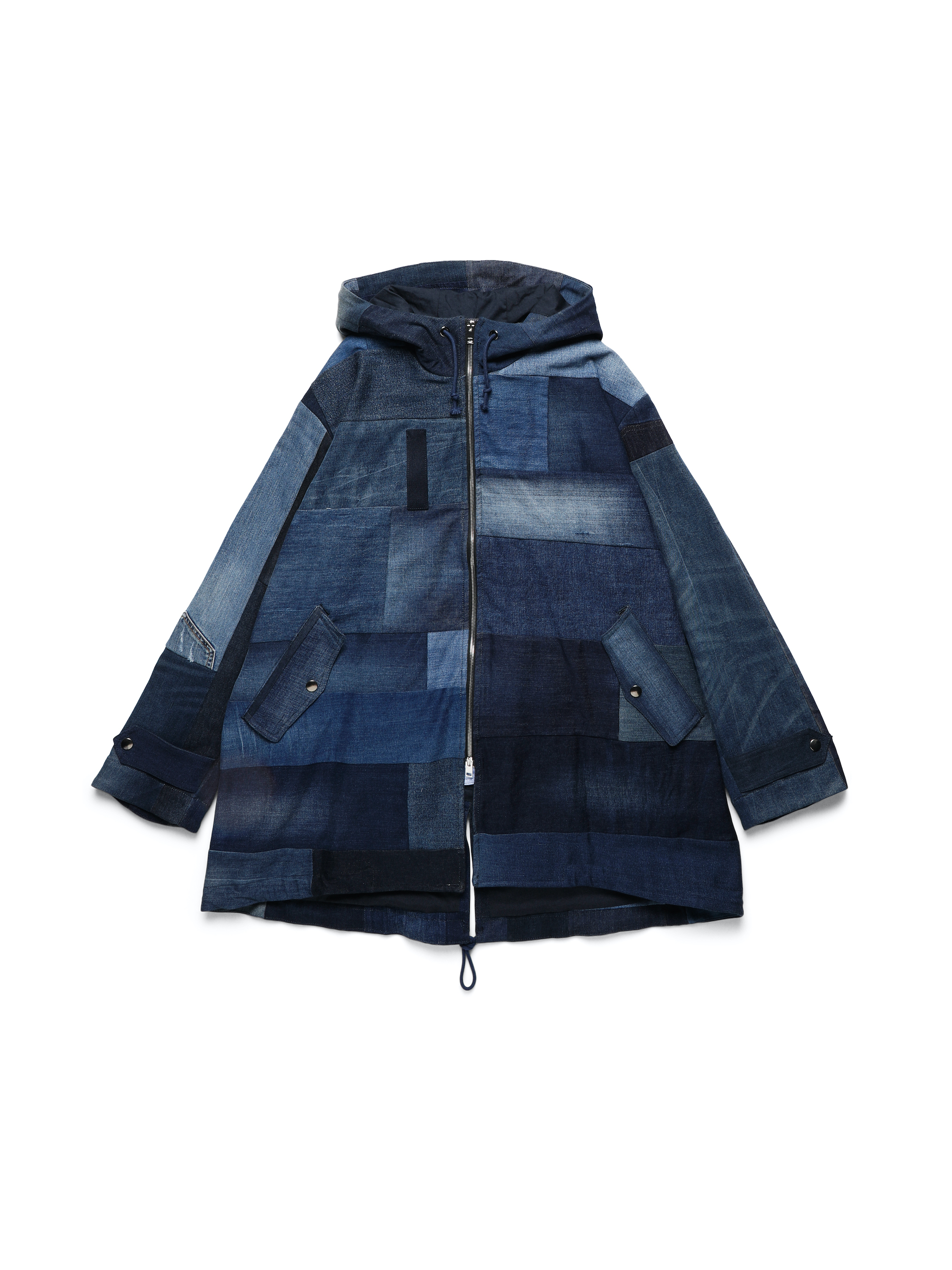 DIESEL UPCYCLING FOR 55DSL dark blue demin coat