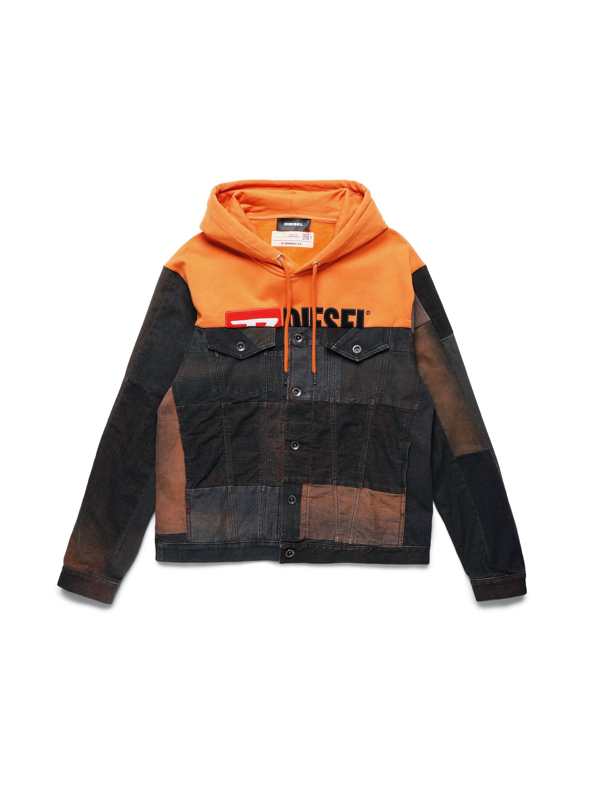 DIESEL UPCYCLING FOR 55DSL orange demin jacket