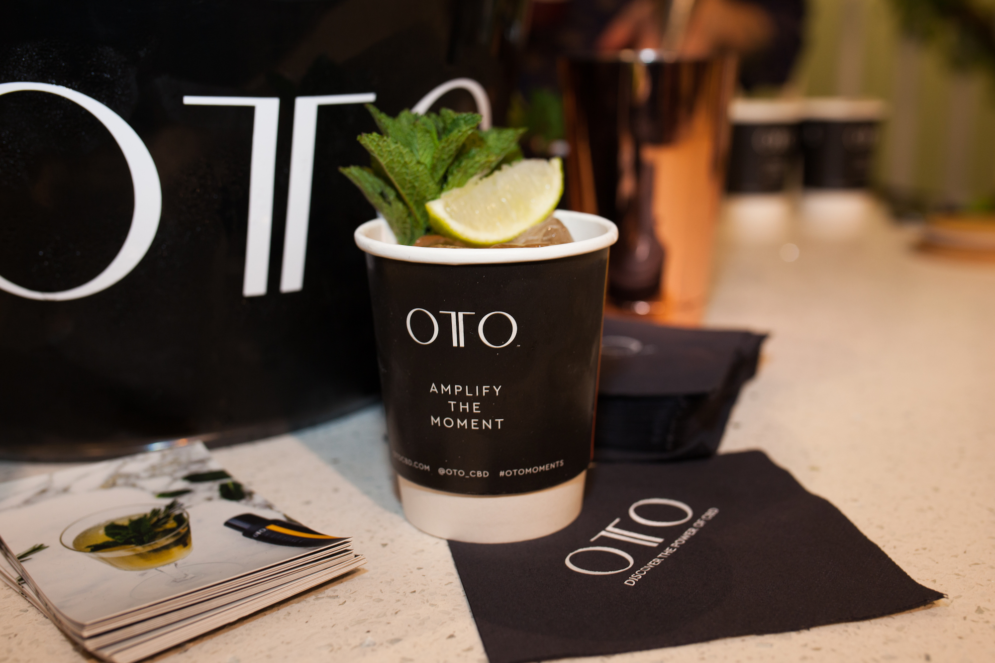OTO CBD wellness event drink