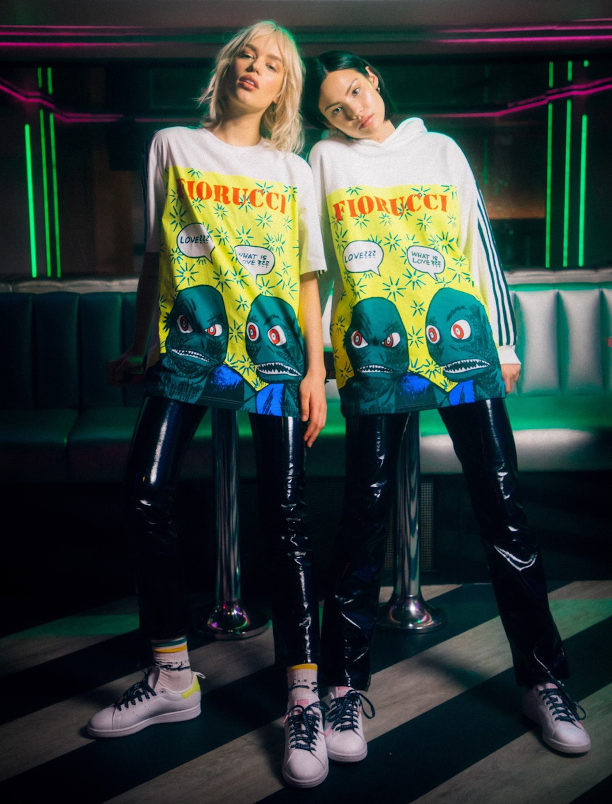 Fiorucci has dropped its fourth collaboration with Adidas Originals