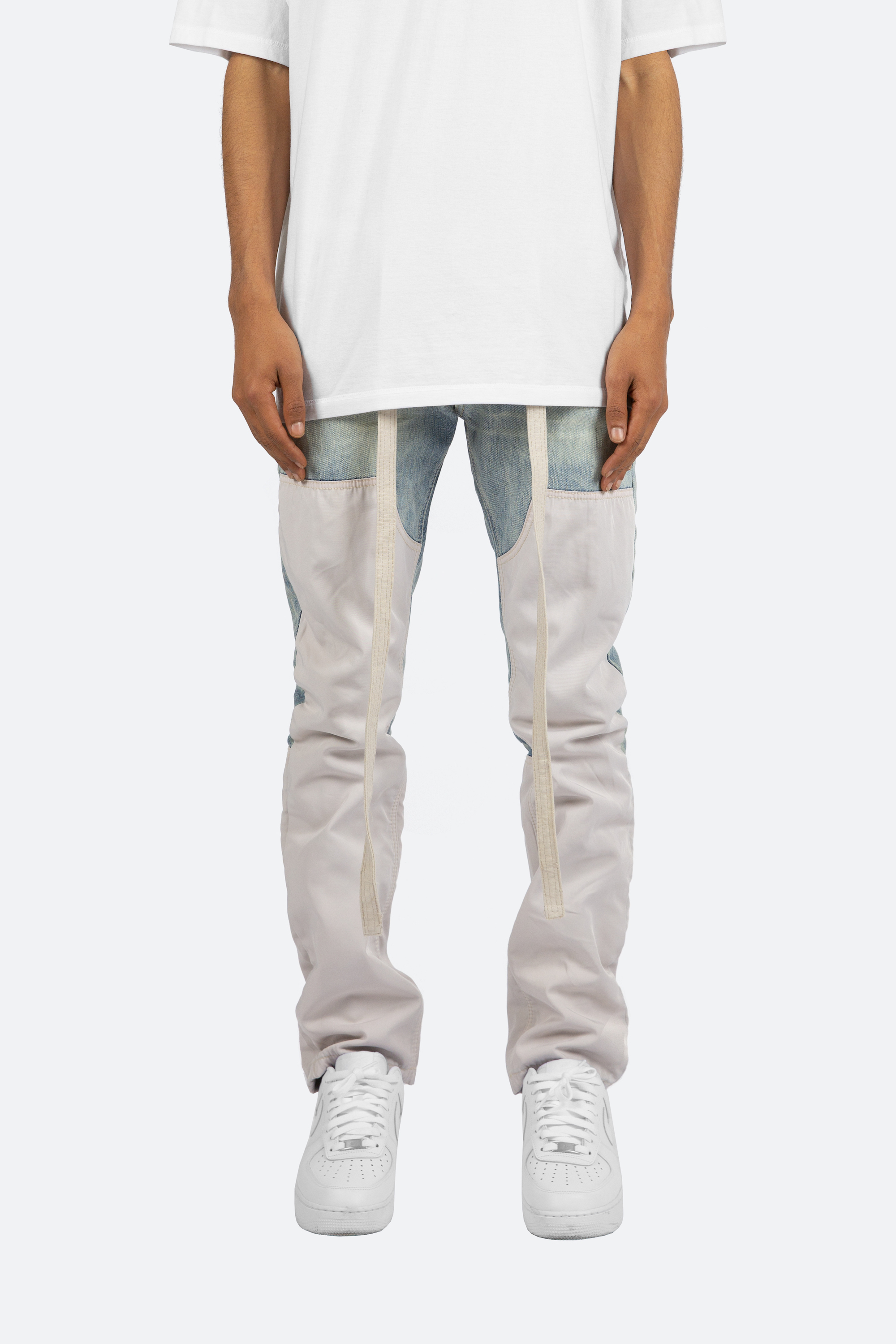 MNML white trousers