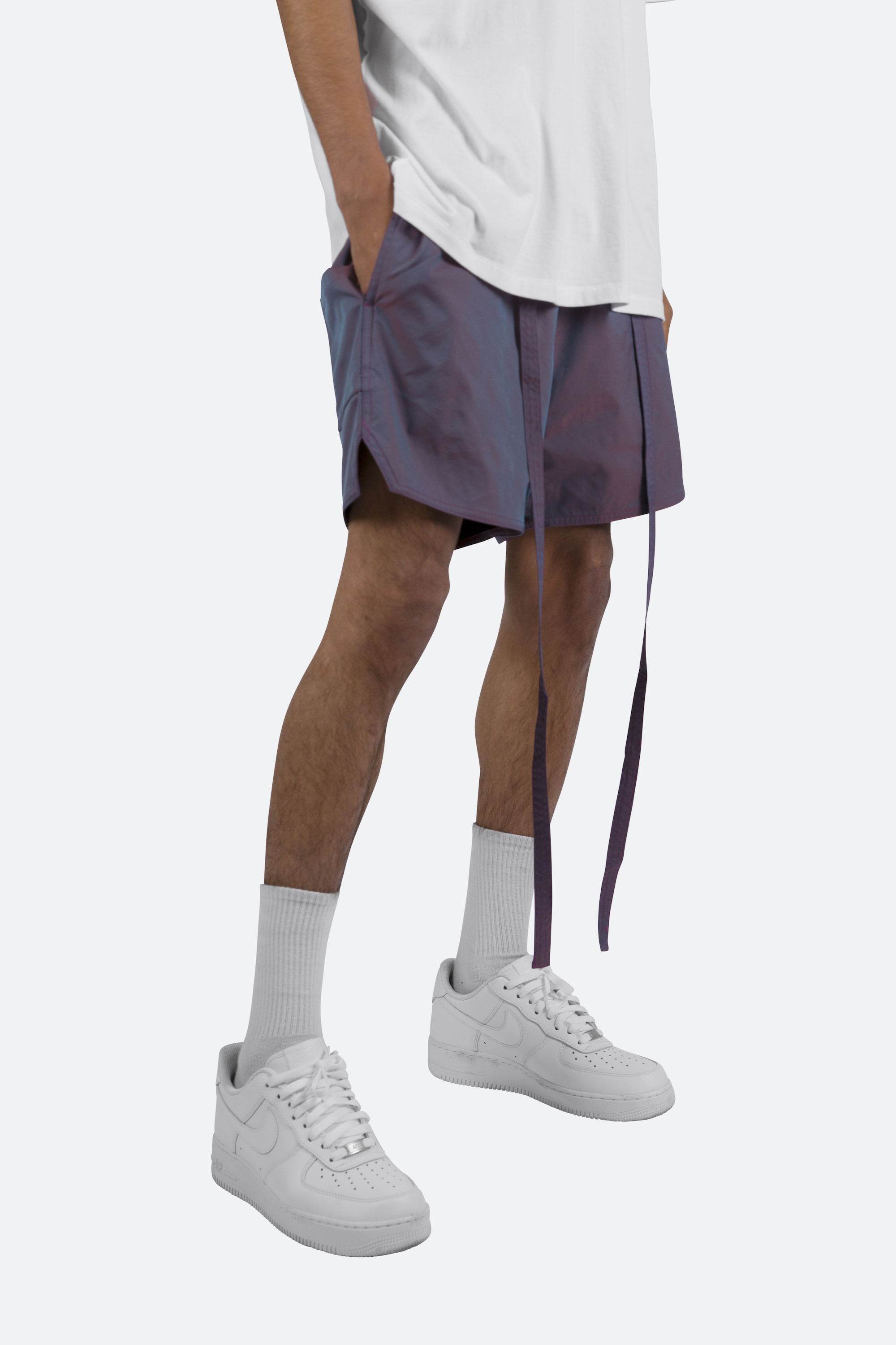 MNML iridescent shorts
