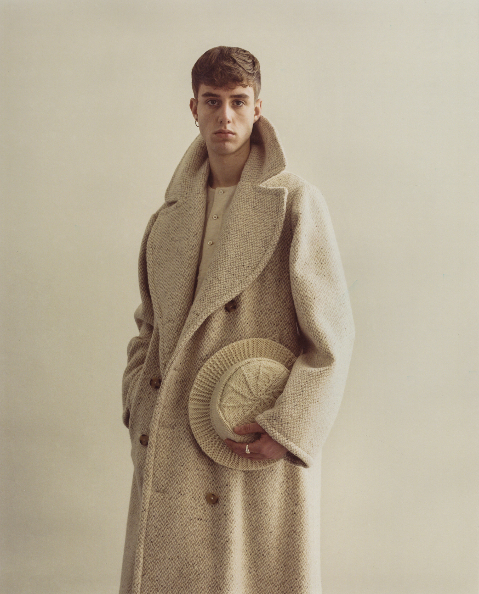 The 'Ryder' slubbed wool tennis coat.