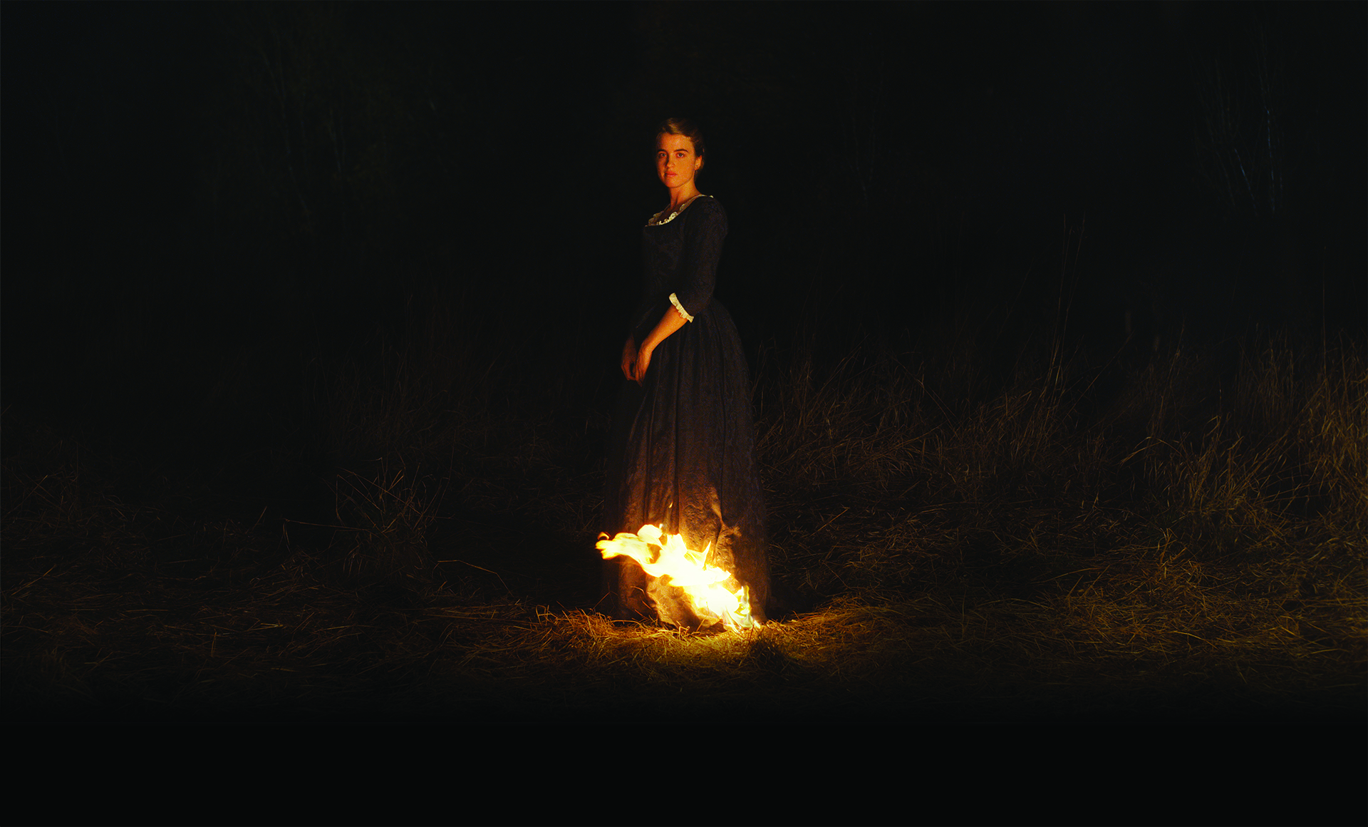 Portrait of a lady on fire, fire scene