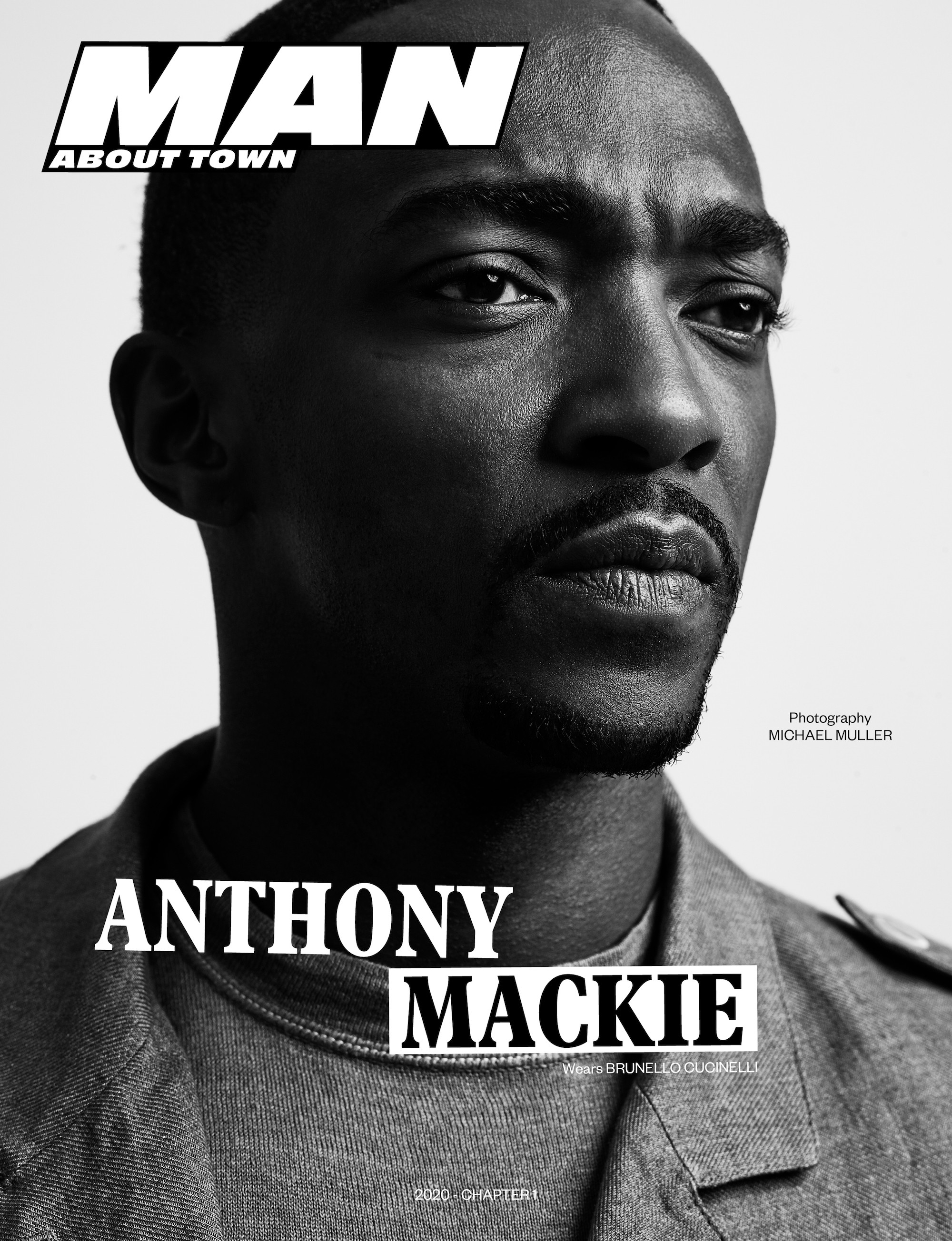Anthony Mackie covers Man About Town