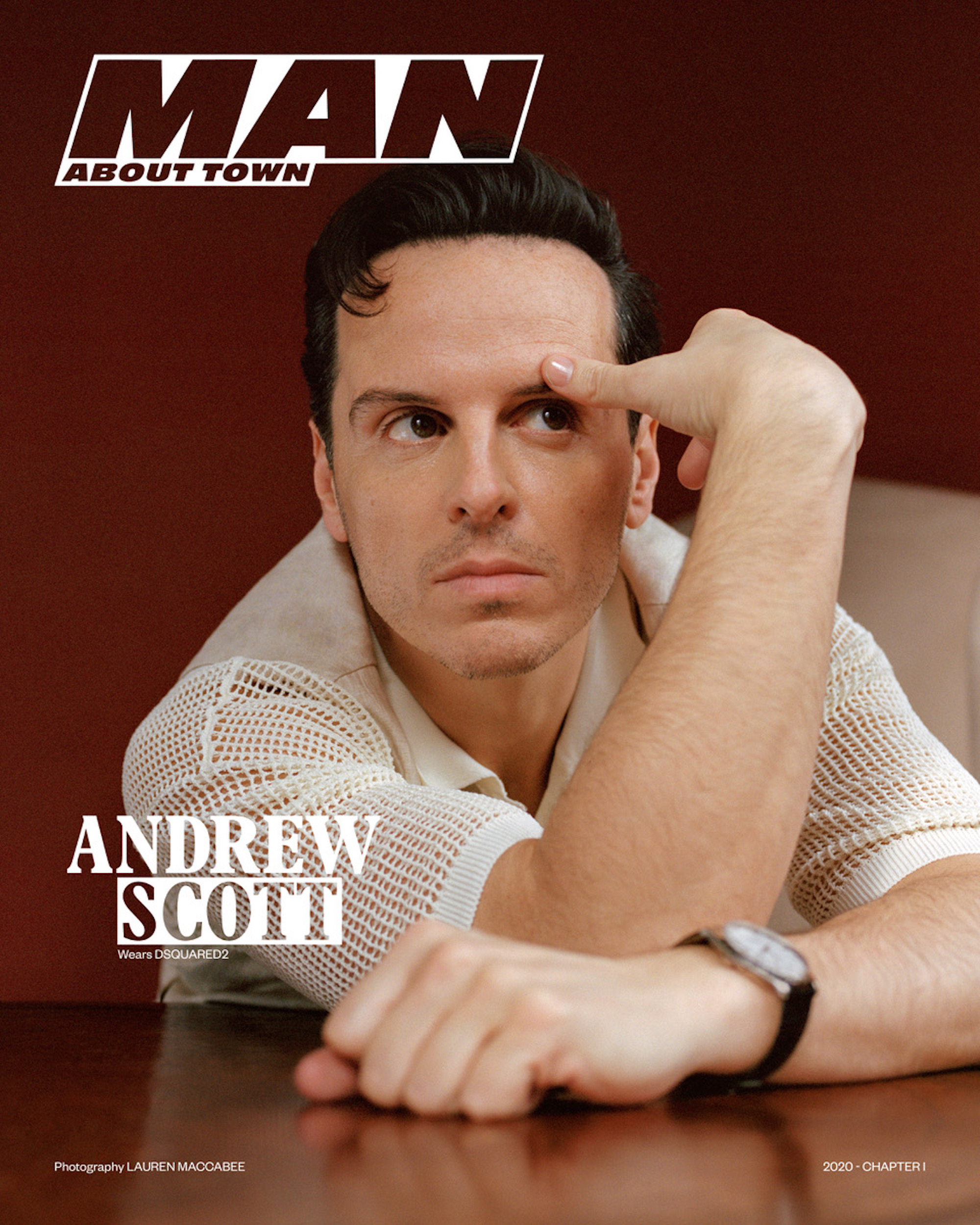 Andrew Scott covers Man About Town: 2020, Chapter I