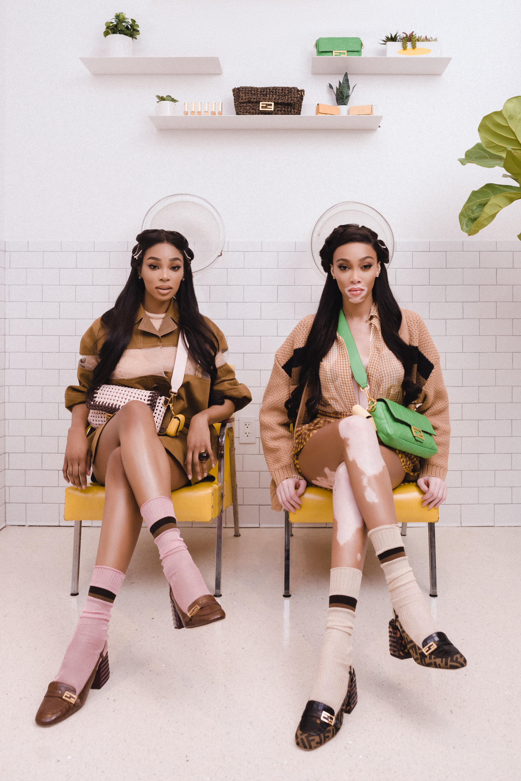 Winnie Harlow for Fend campaign #BaguetteFriendsForever