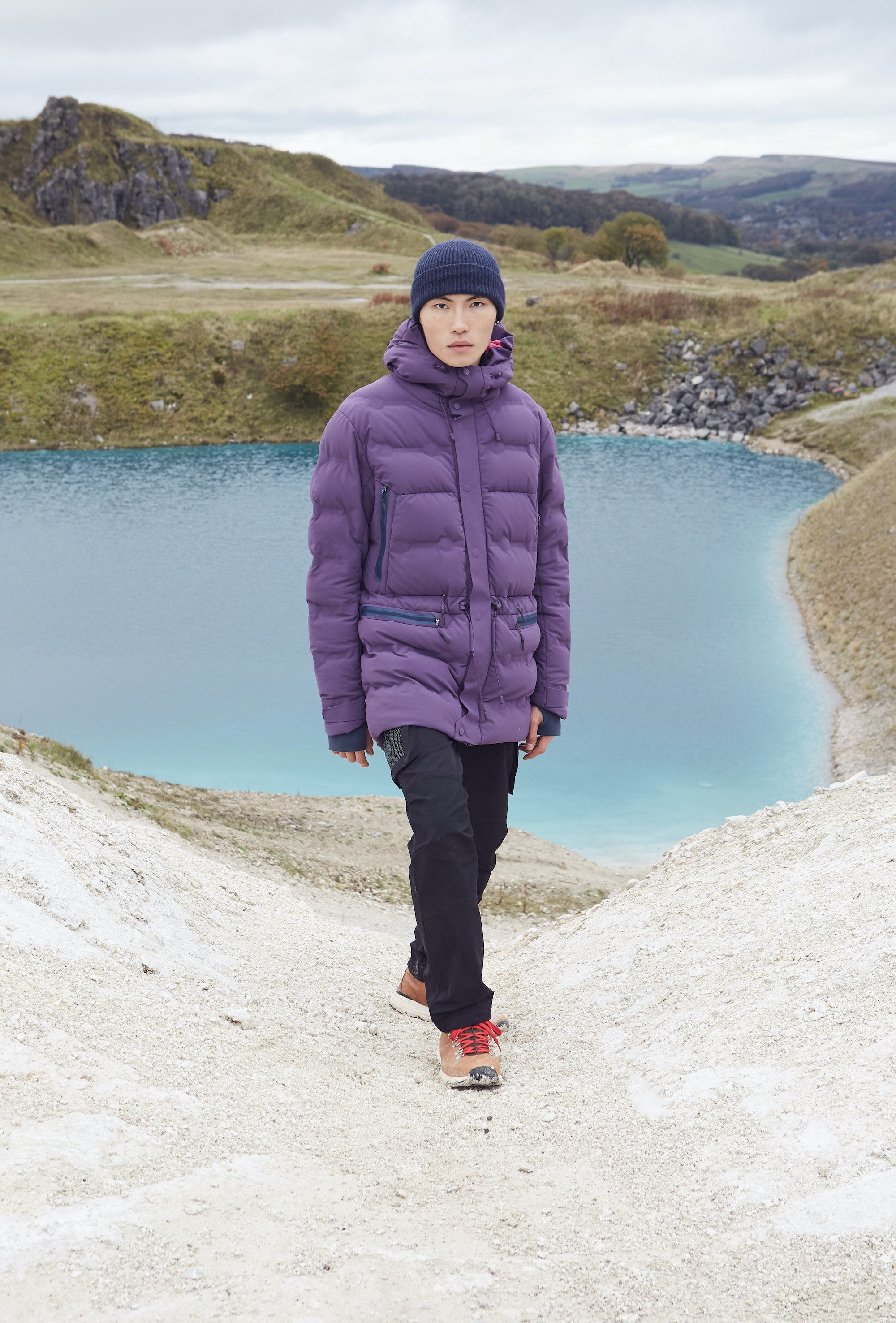 7L purple puffer jacket